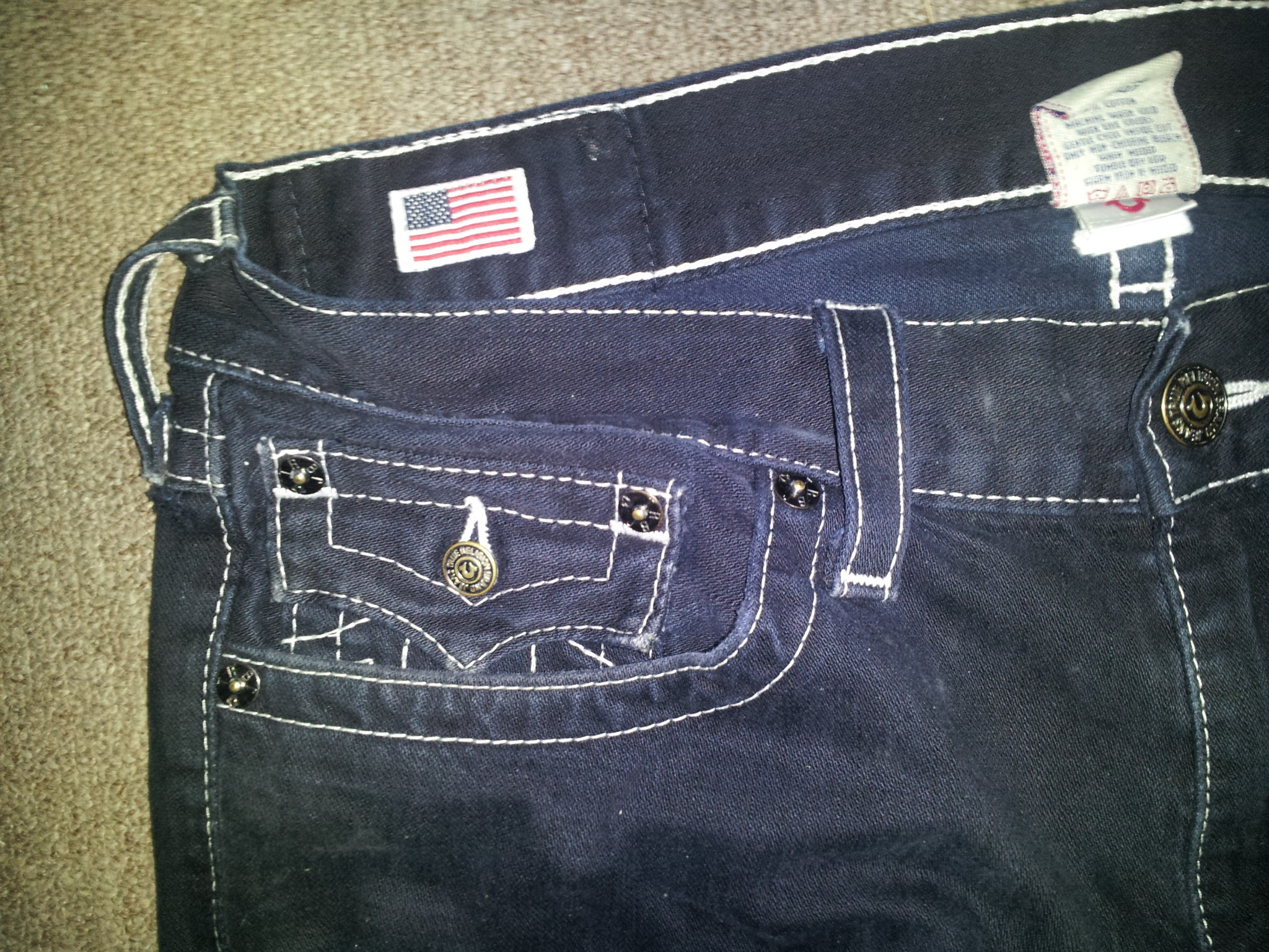 Can TRUE RELIGION Jeans have a ROUNDED FLAP POCKET… – The eBay Community