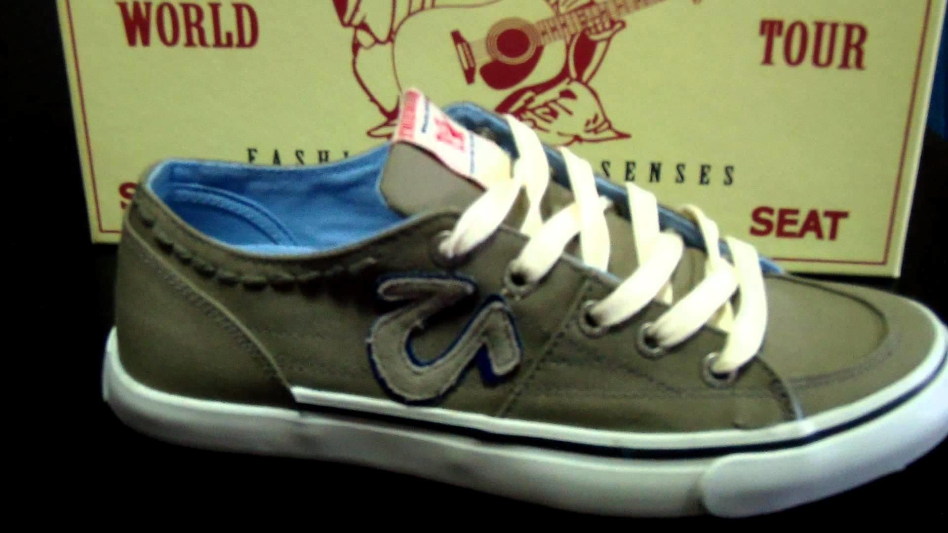 True Religion Shoes For Men (Gray)
