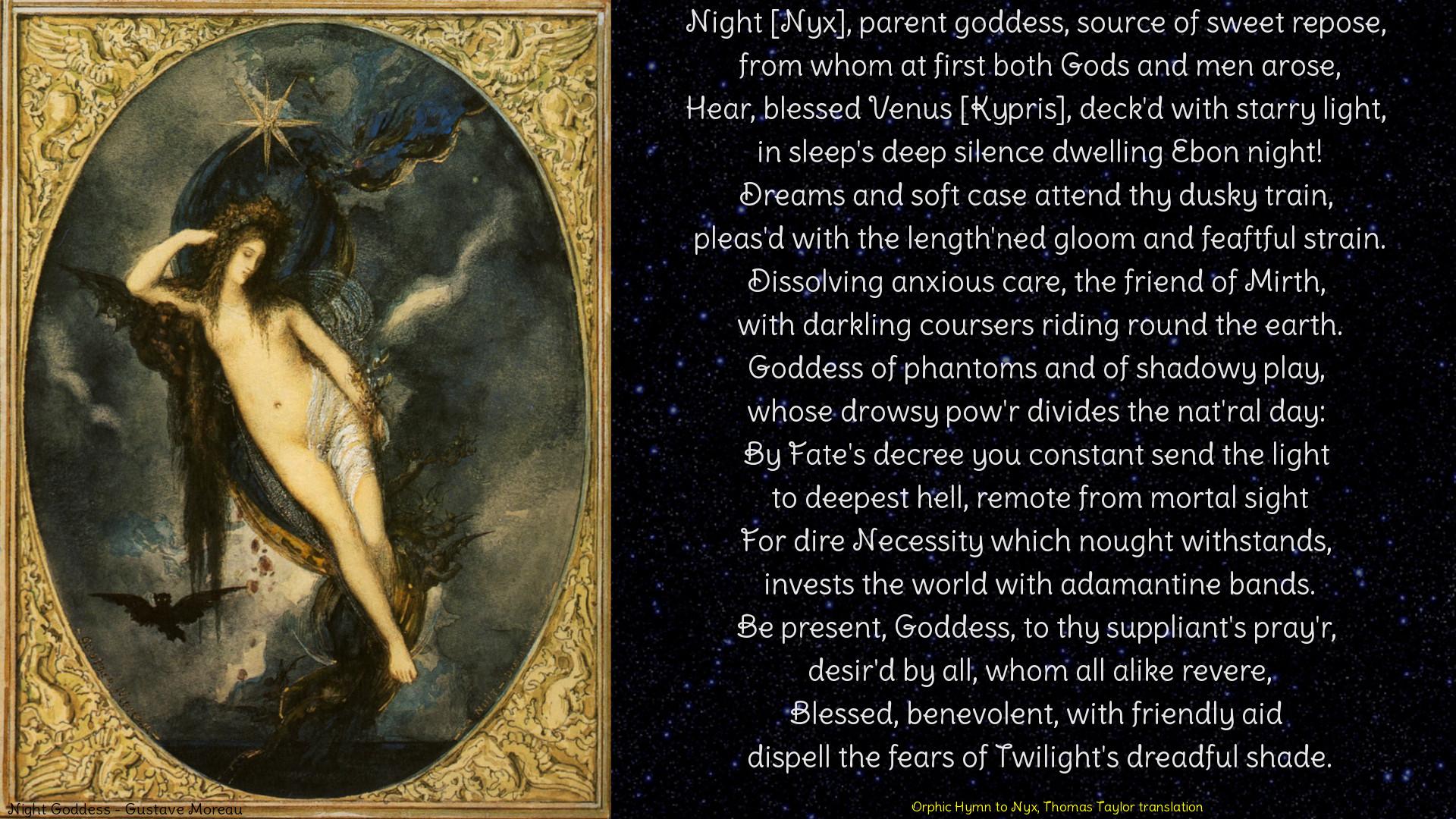… Hymn to Nyx, desktop wallpaper