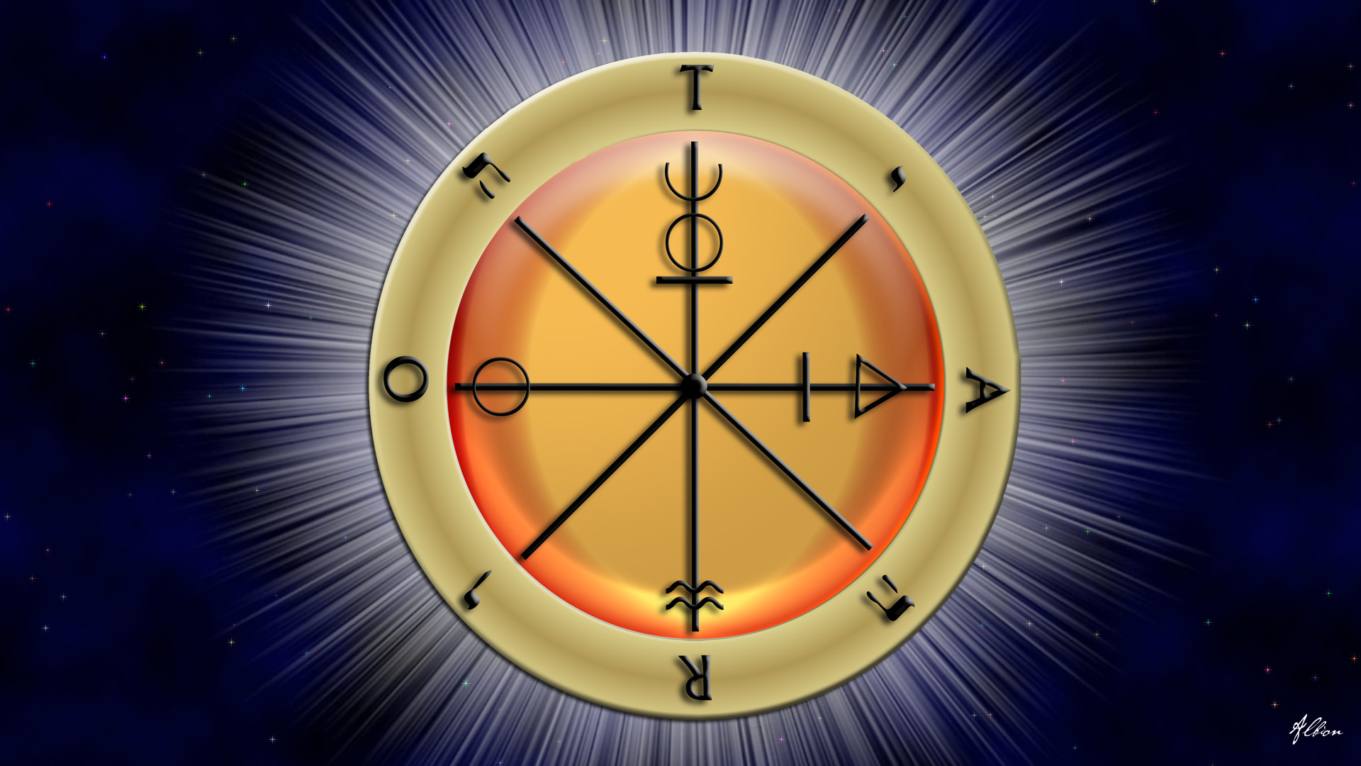 … Wheel of the Tarot Wallpaper by The-Pagan-Gallery