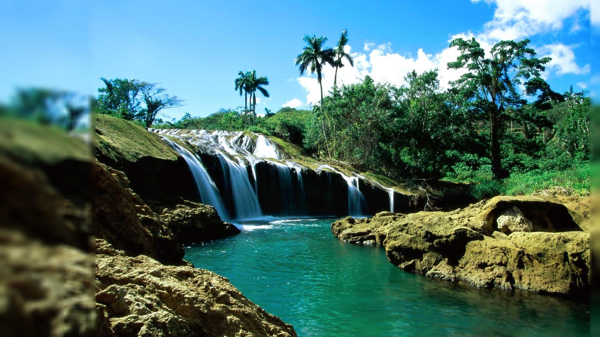 Desktop Backgrounds Clear Waterfalls