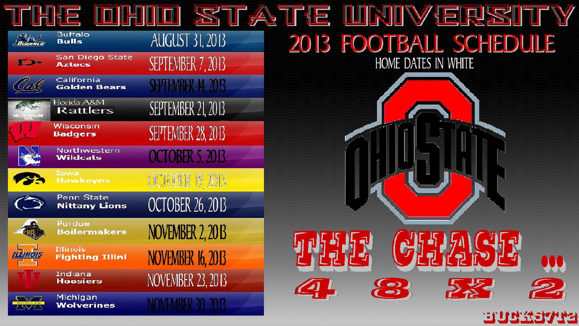 OHIO STATE BUCKEYES FOOTBALL SCHEDULE – Ohio State Football Wallpaper .
