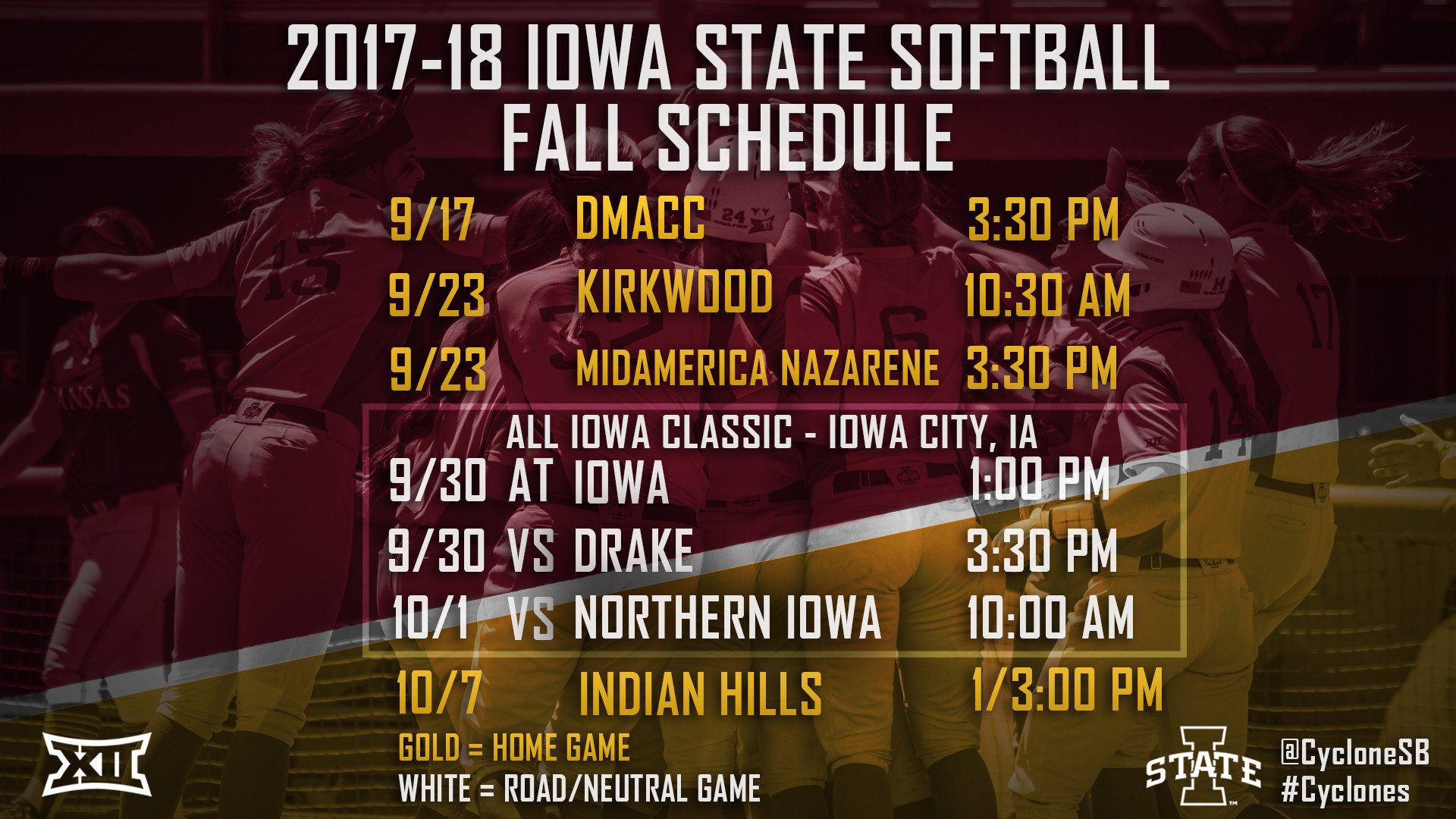 2017 Fall Softball Schedule
