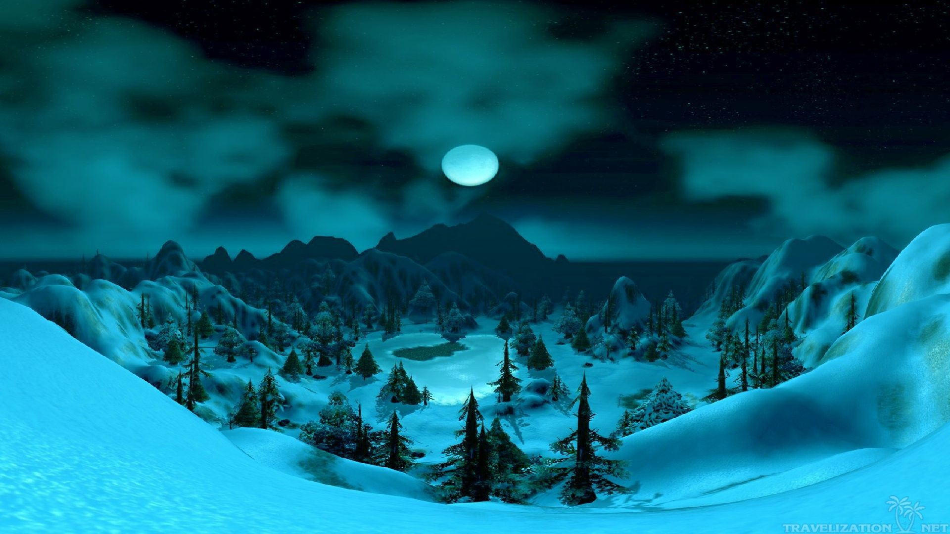 You can find Full Moon In Winter Night Wallpapers in many resolution such  as 1024×768, 1280×1024, 1366×768, …