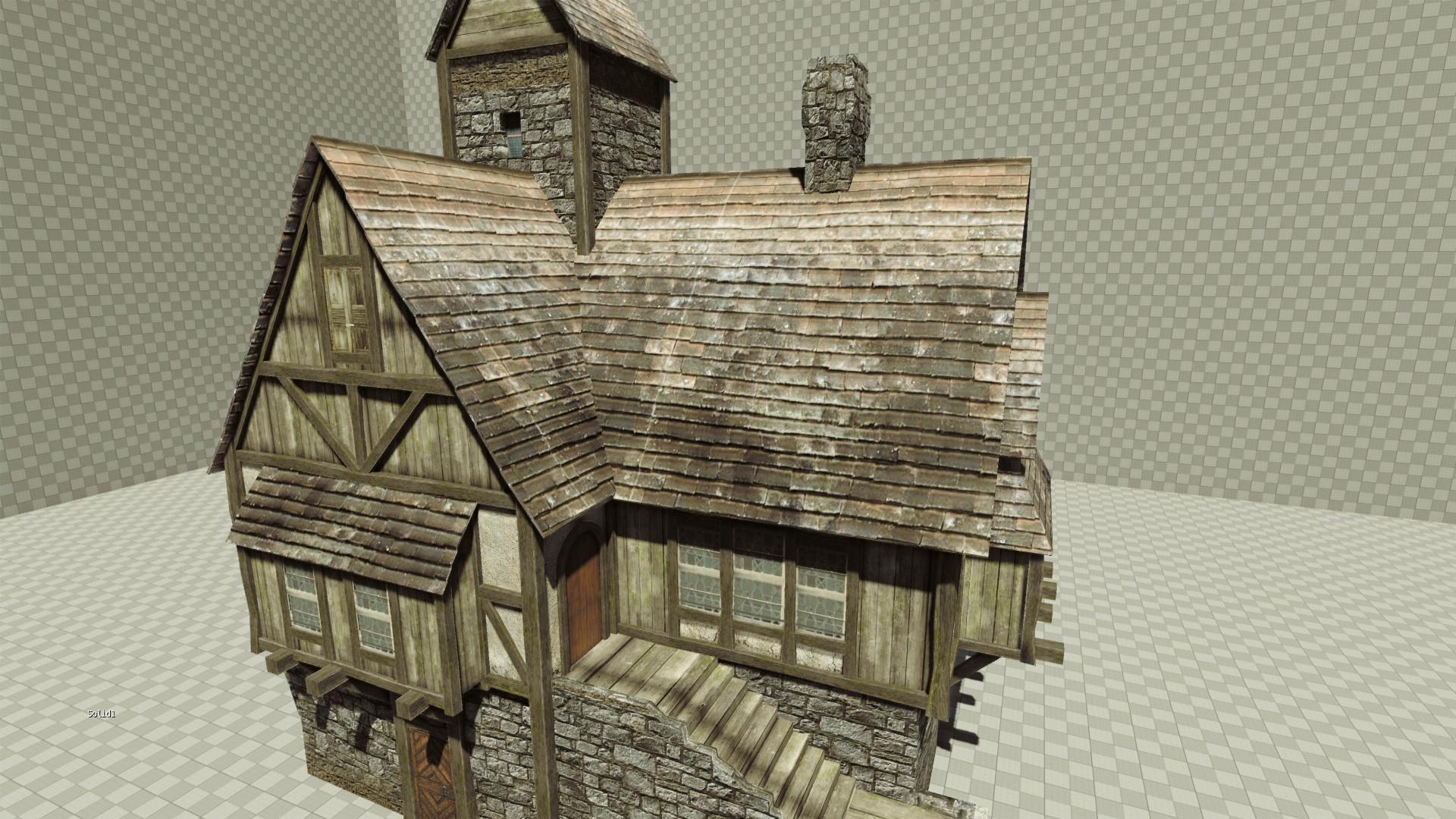 https://tf3dm.com/3d-model/medieval-house-4919.html   CS188_Assets    Pinterest   Medieval, 3d and Art 3d