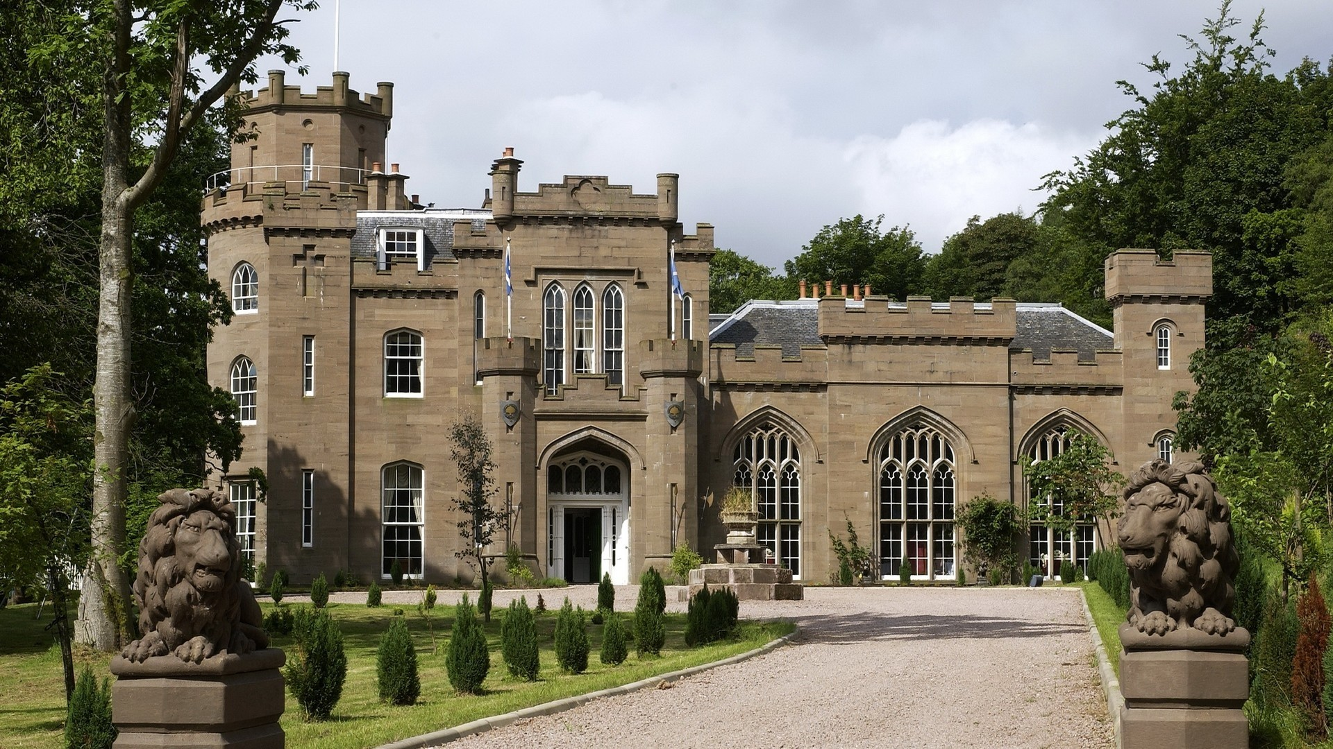 Wallpaper scotland, castle, city, architecture, building