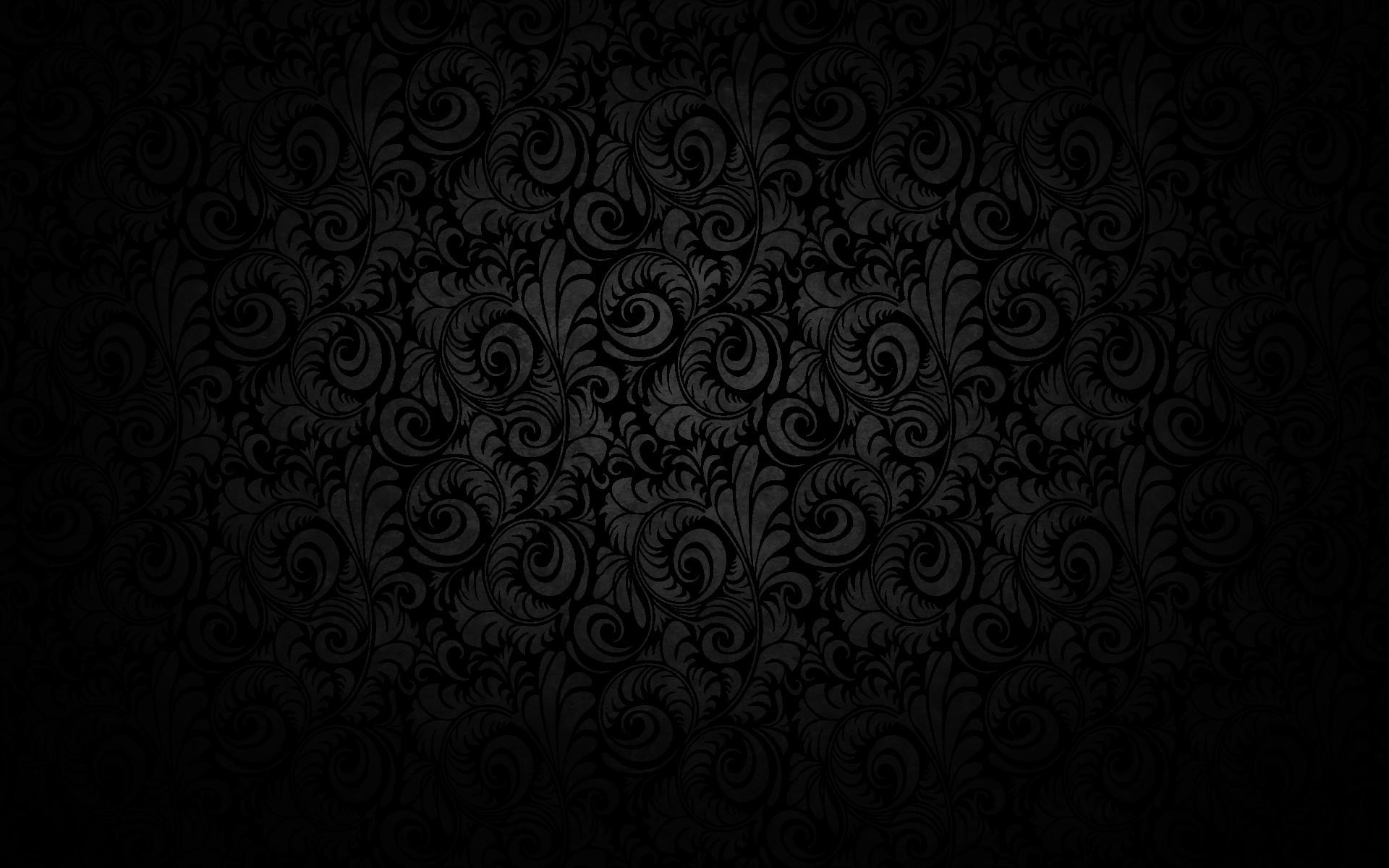 Black Floral Texture Pattern Design Wallpaper #341    hdewallpaper.com