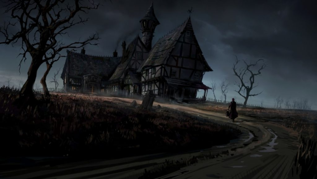 Free haunted house wallpaper background