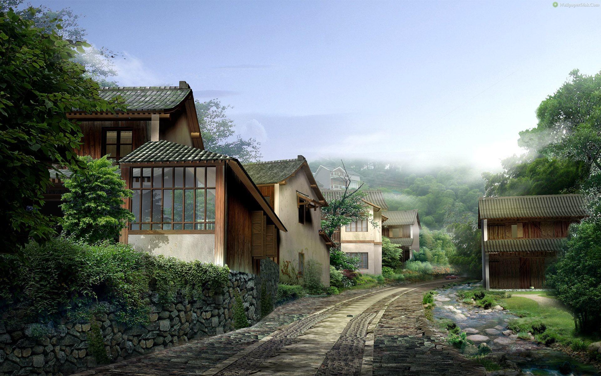Best japan villages (29) desktop wallpapers background collection