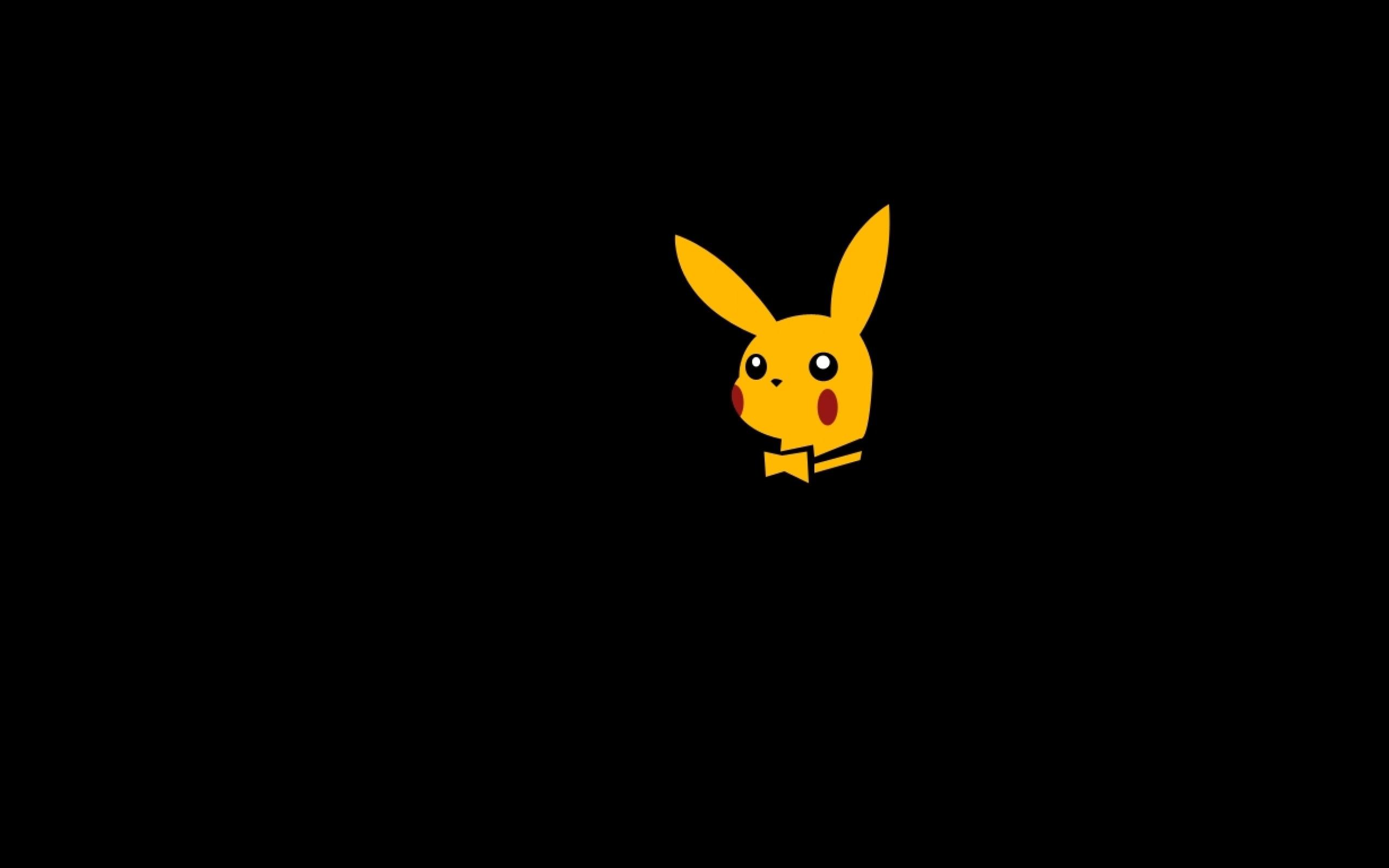 pikachu playboy magazine bunny ears 1366×768 wallpaper Wallpaper HD