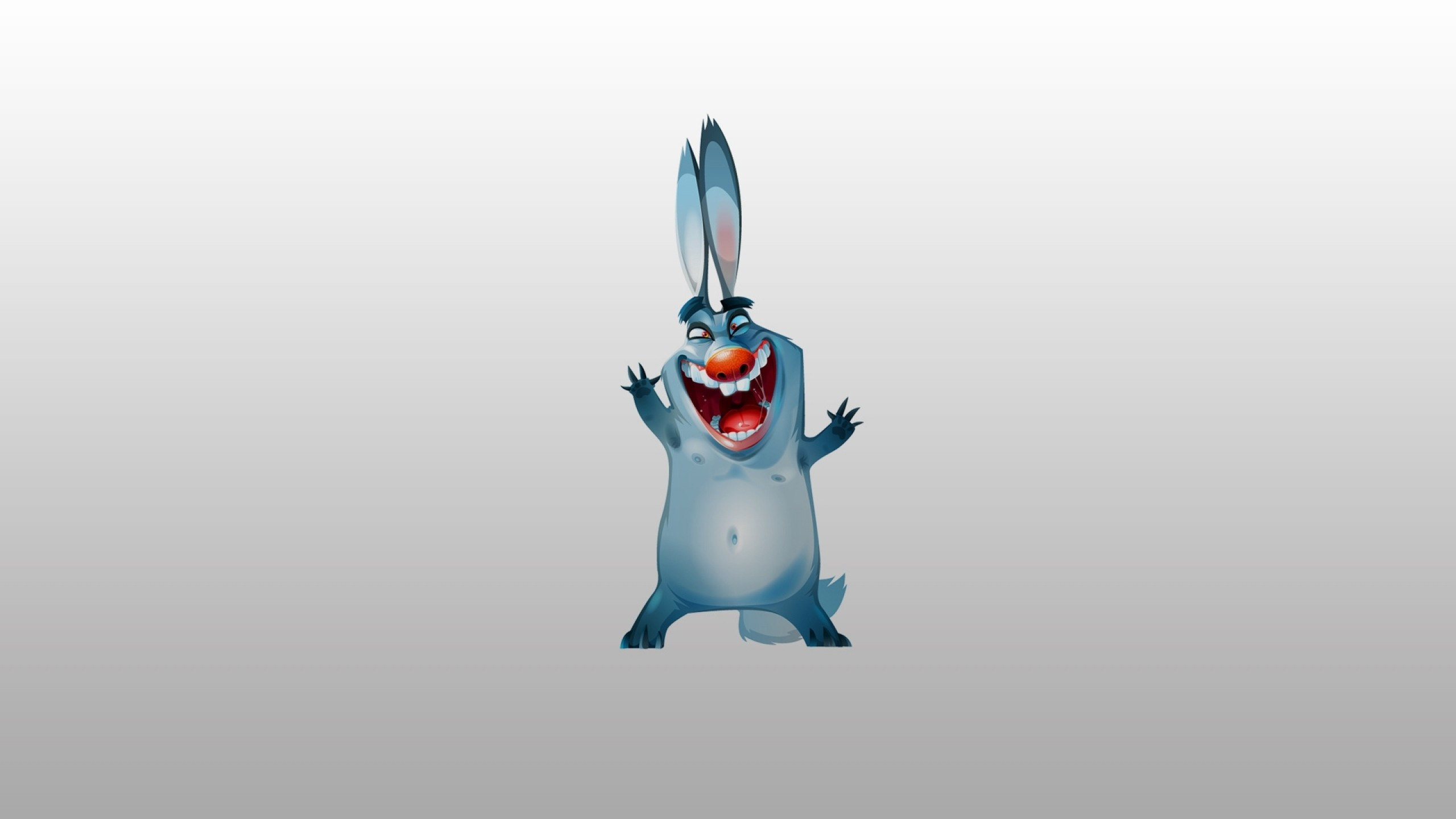 Preview wallpaper bunny, funny, picture 2560×1440