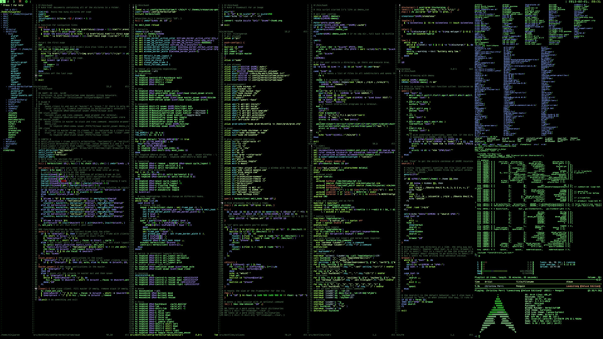 Commands Linux Archlinux Terminal computer system programming wallpaper |  | 43883 | WallpaperUP