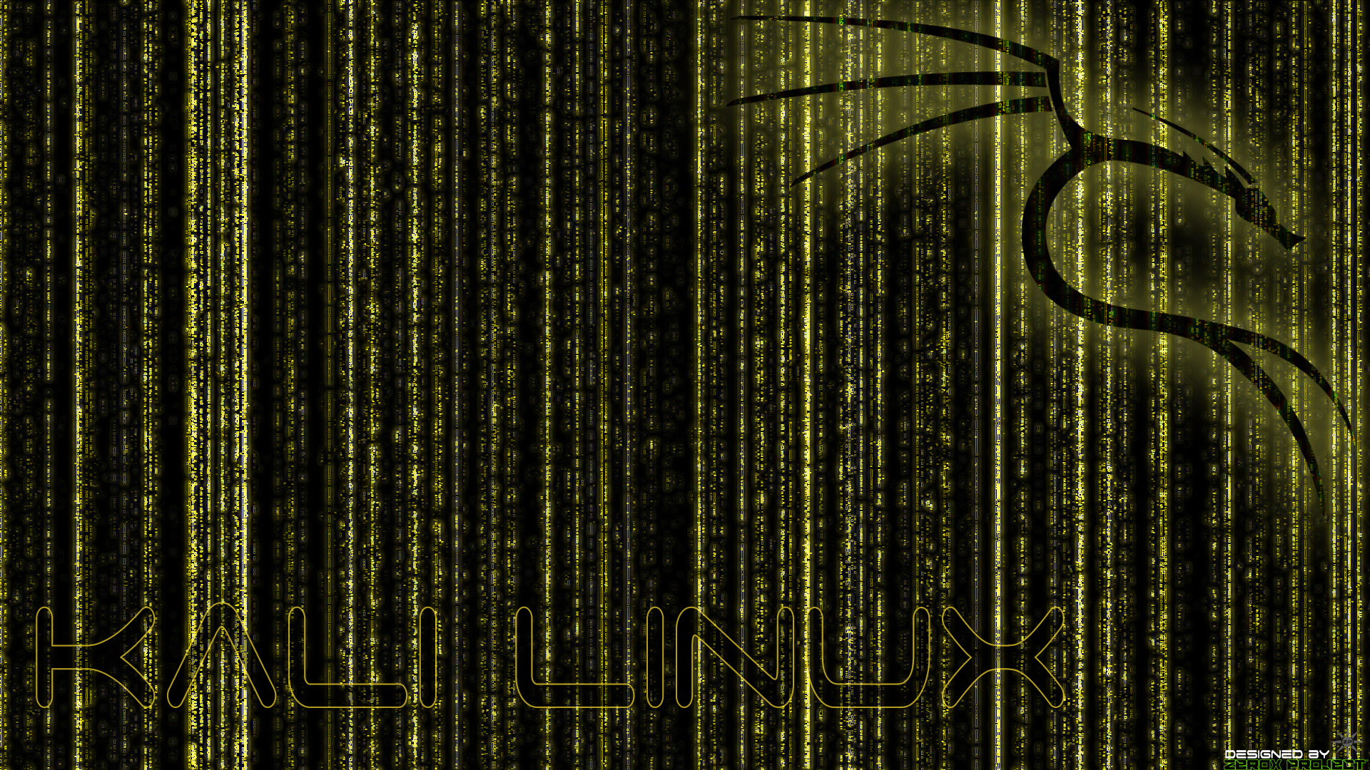 … Kali Linux BackTrack Wallpaper Yellow v.1 by ZeroxProject