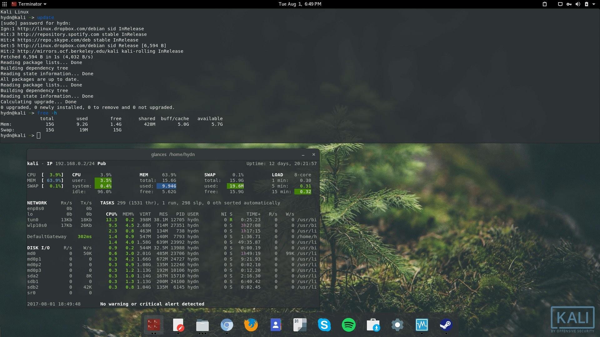 … Kali Linux + Gnome desktop. kali_linux_rolling_gnome