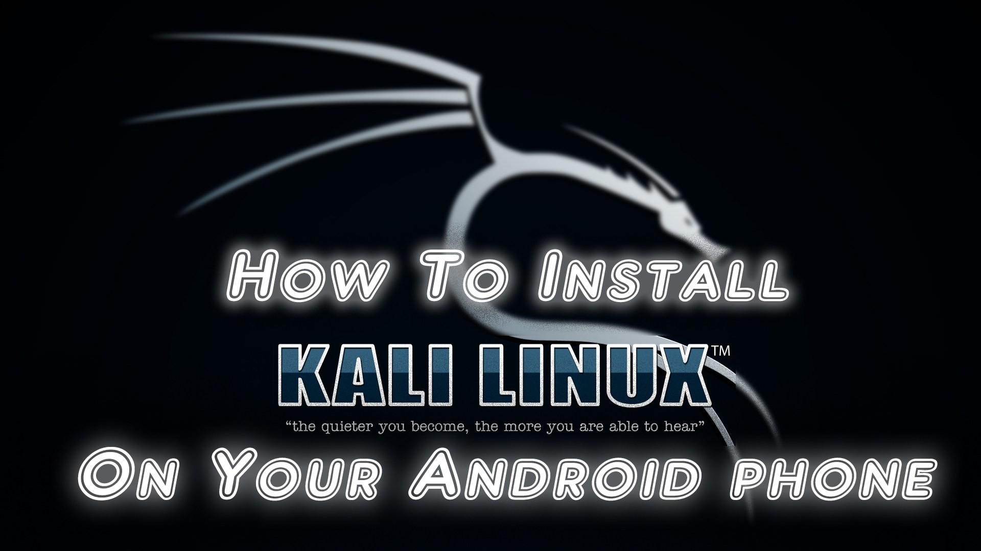 Kali Linux …