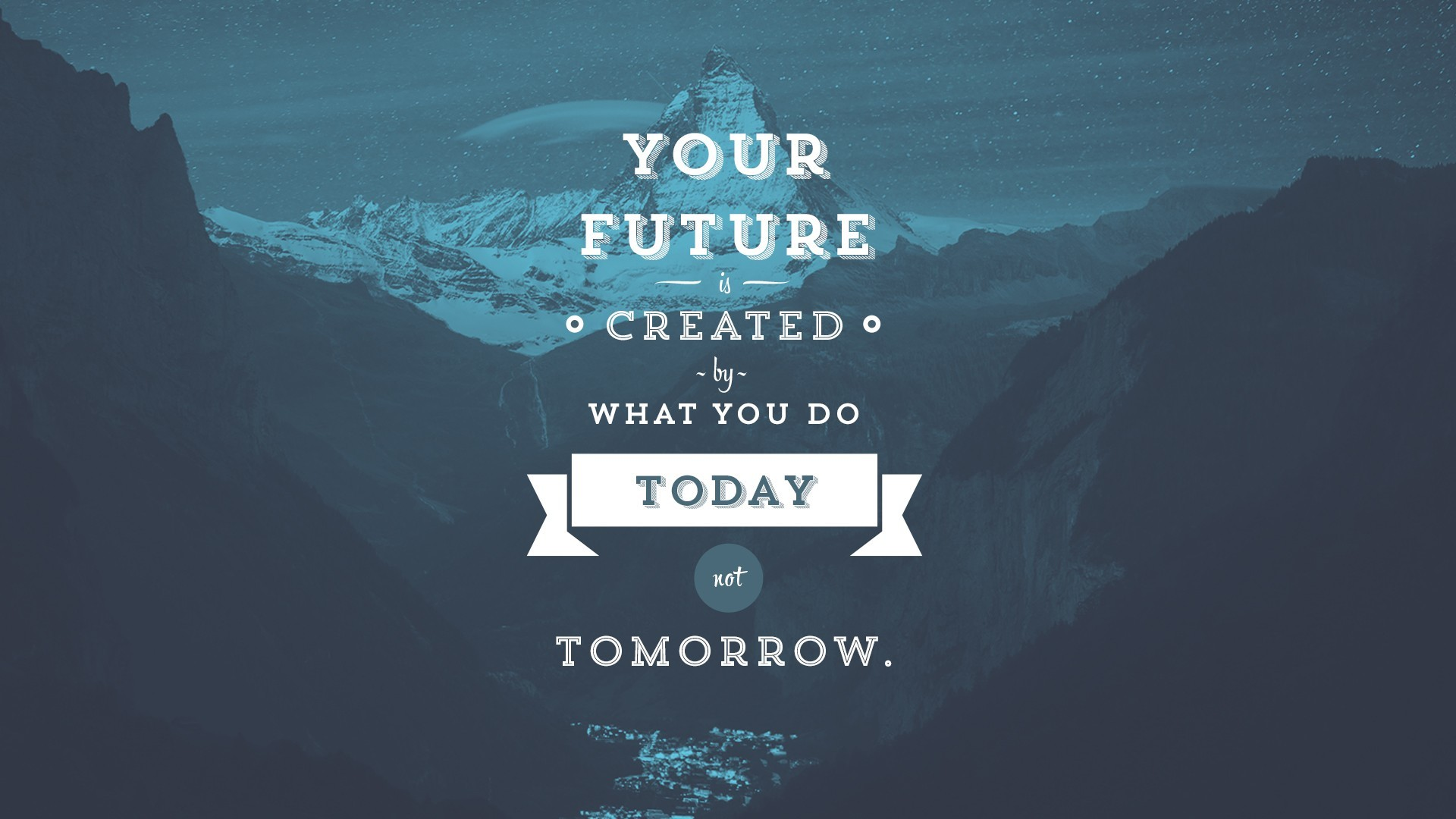 Your Future Is Created By What You Do Today, Not Tomorrow