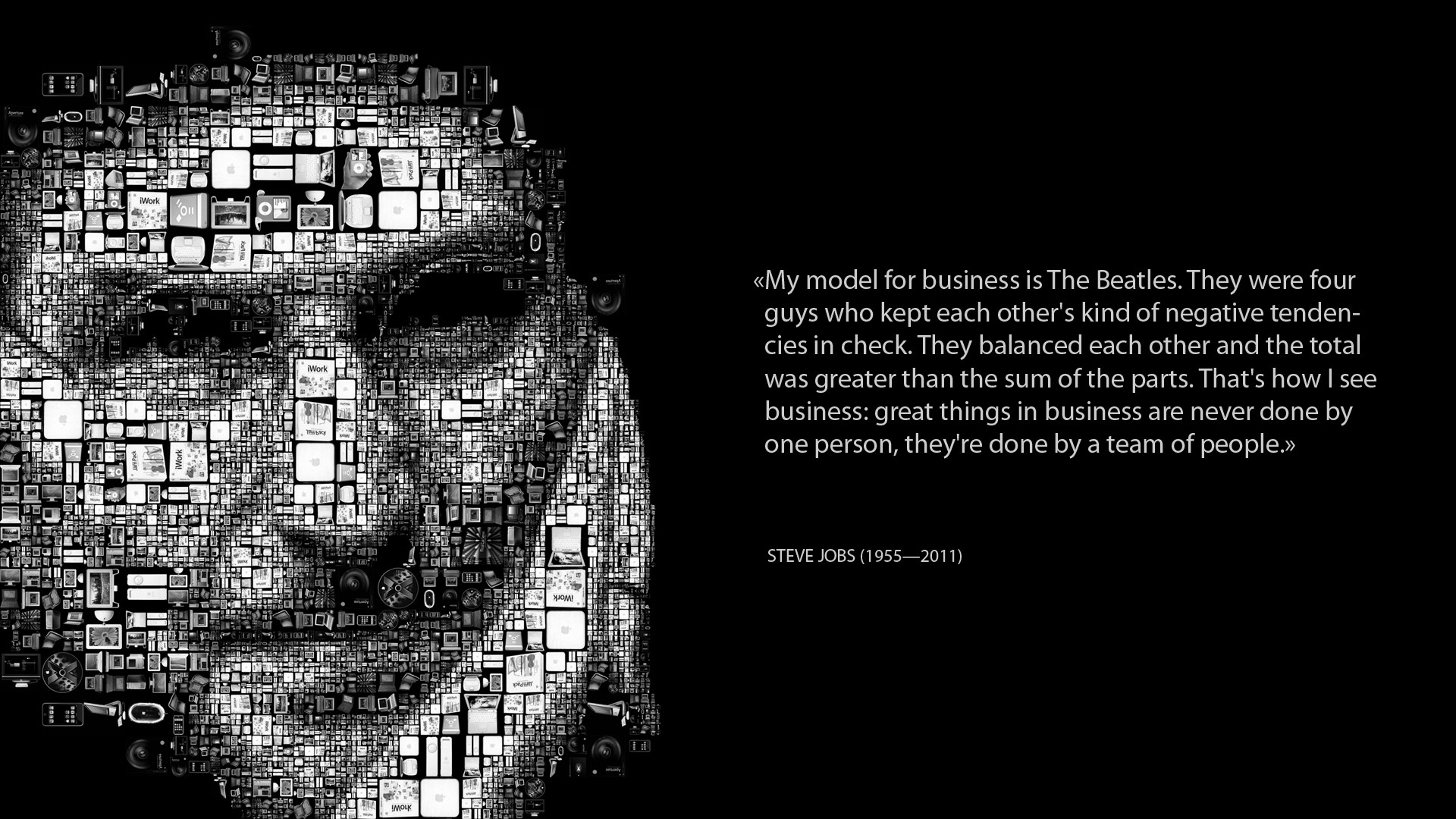 steve jobs inspirational quote wallpaper