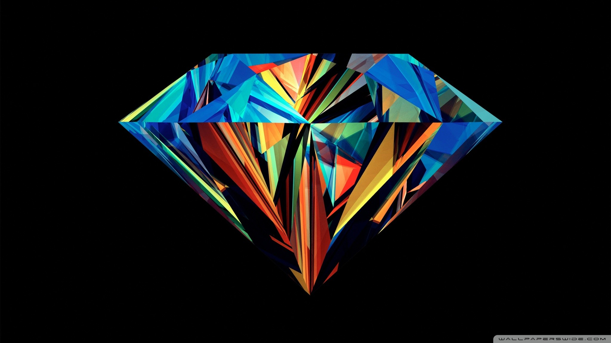 Abstract Colorful Diamond 1280 x 1024 Wallpaper