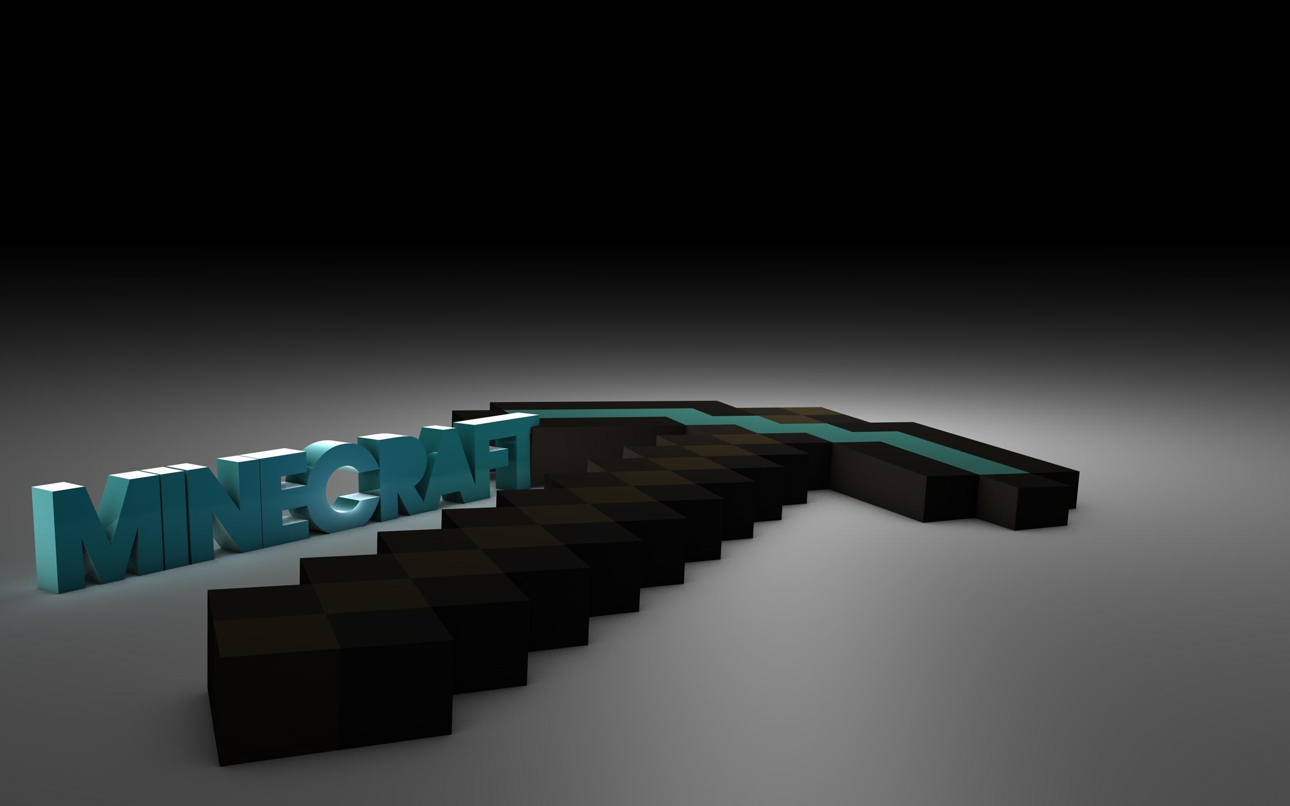 3D Diamond Pickaxe Minecraft Wallpaper