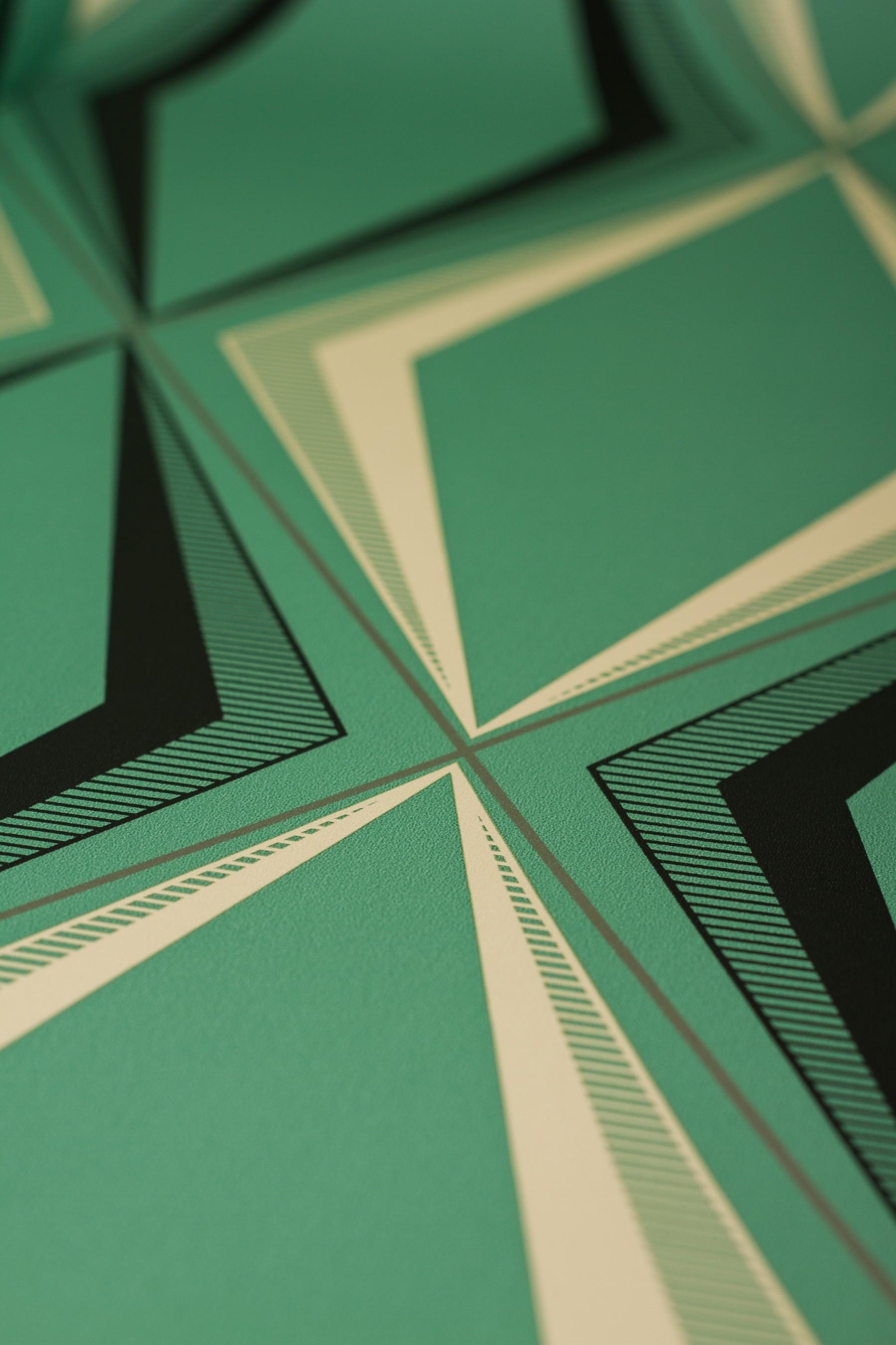 Deco Diamond Green Wallpaper. Download