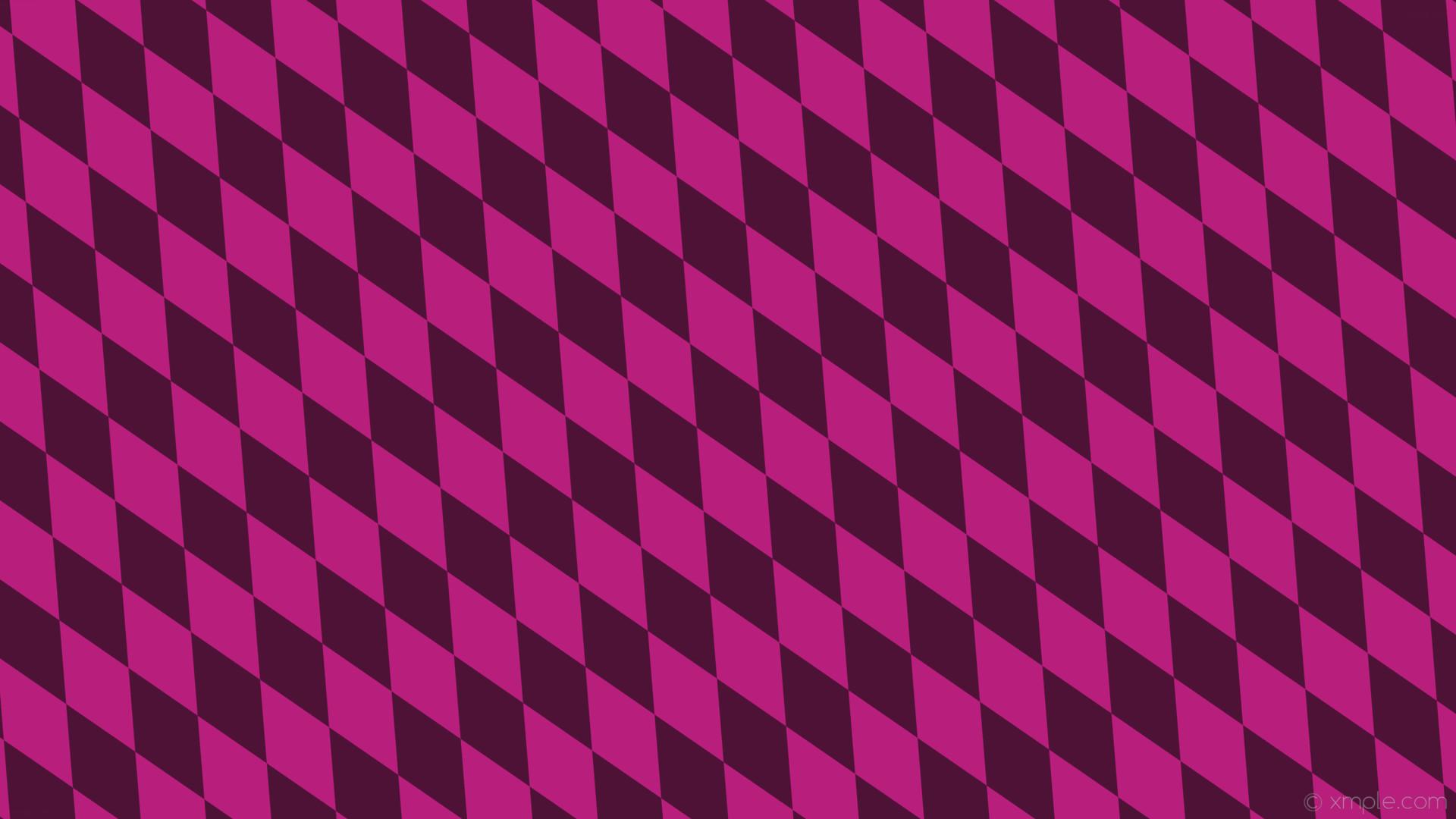 wallpaper pink diamond lozenge rhombus dark pink #4e1237 #b81e7c 120° 200px  95px
