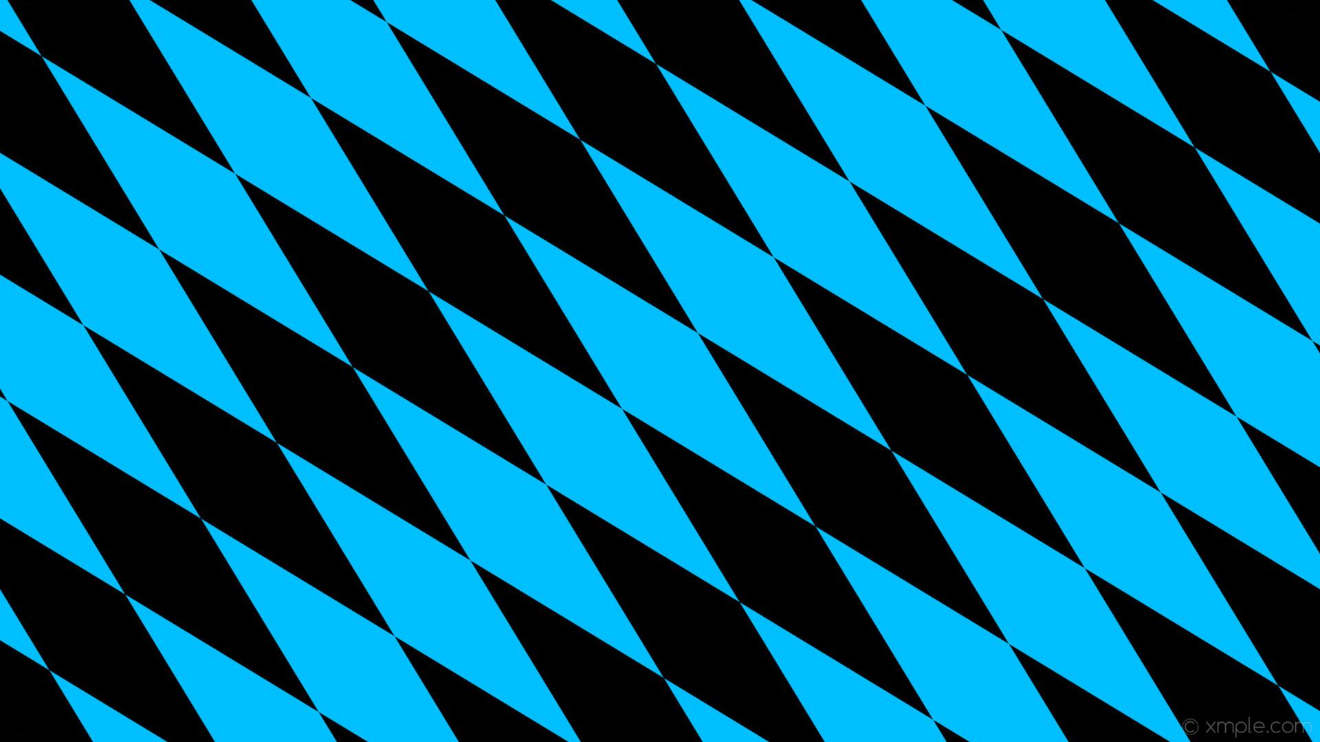 wallpaper rhombus lozenge black diamond blue deep sky blue #00bfff #000000  135° 640px