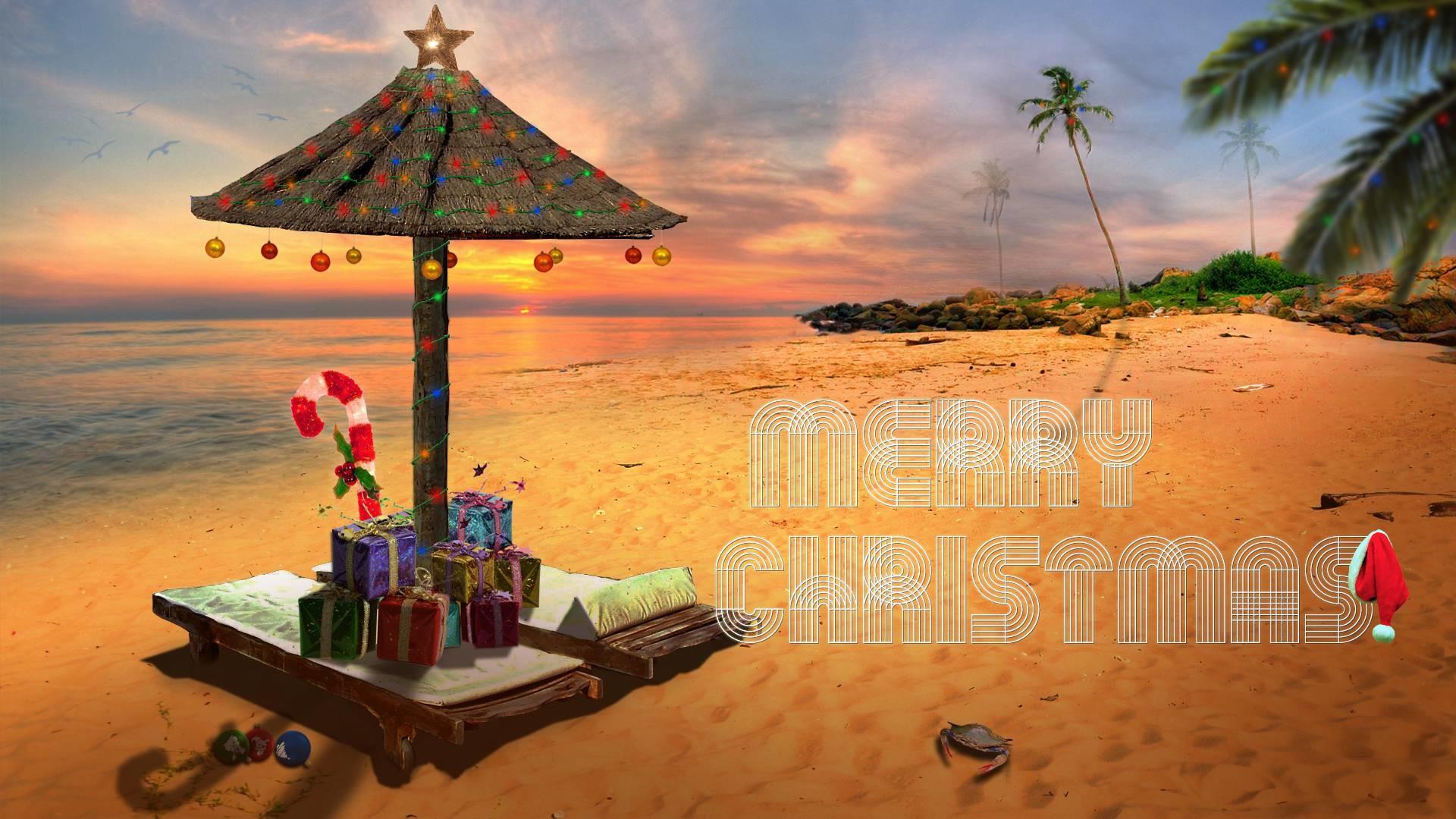 Beach Christmas Wallpaper | Great World