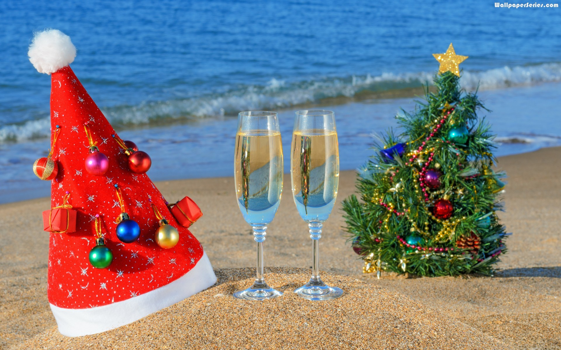 Christmas beach picture from all around the world