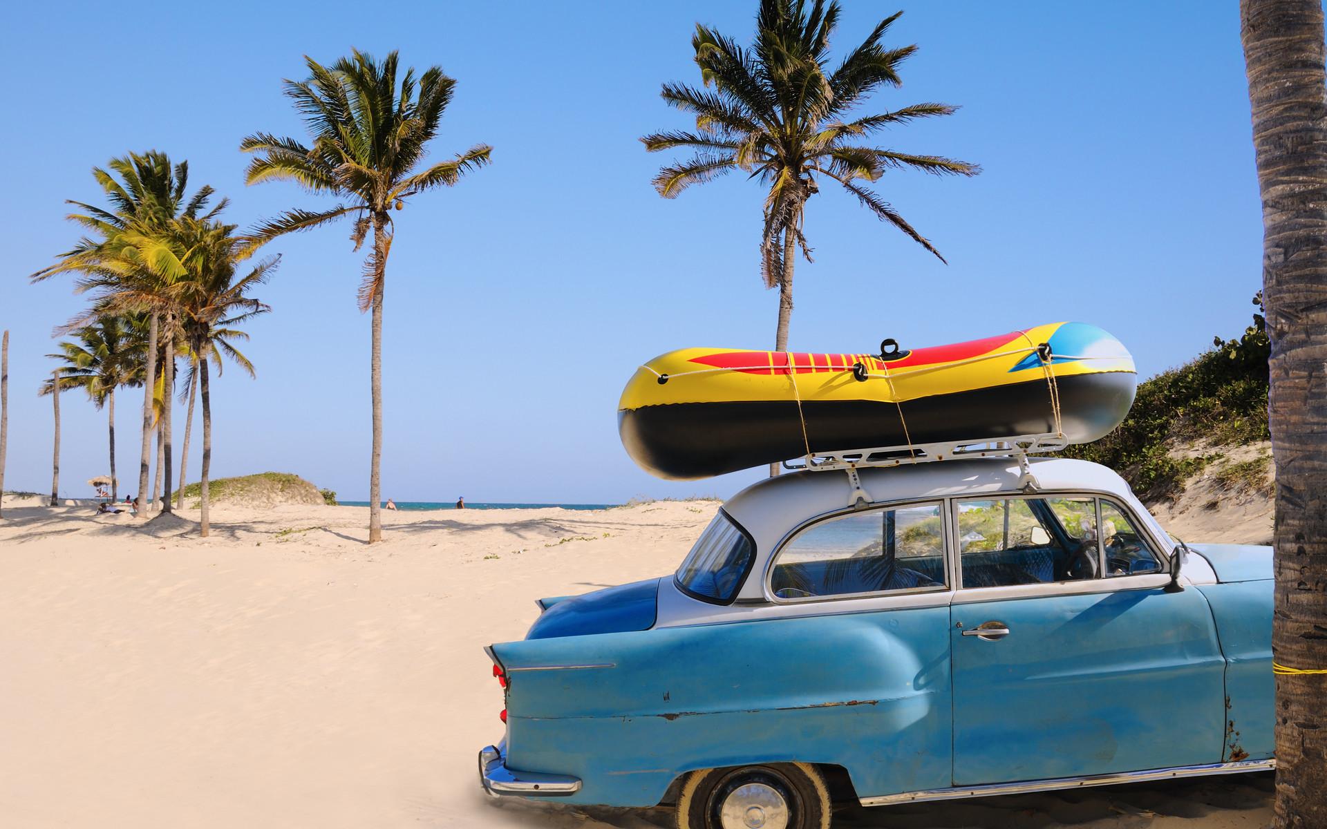 BEACH CHRISTMAS | vacation wallpaper holiday, travel, beach, car, boat, palm