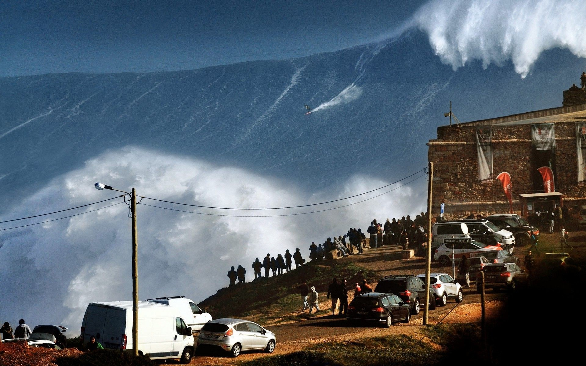 landscape, Nature, Huge, Waves, Sea, Surfing, Sports, Water,