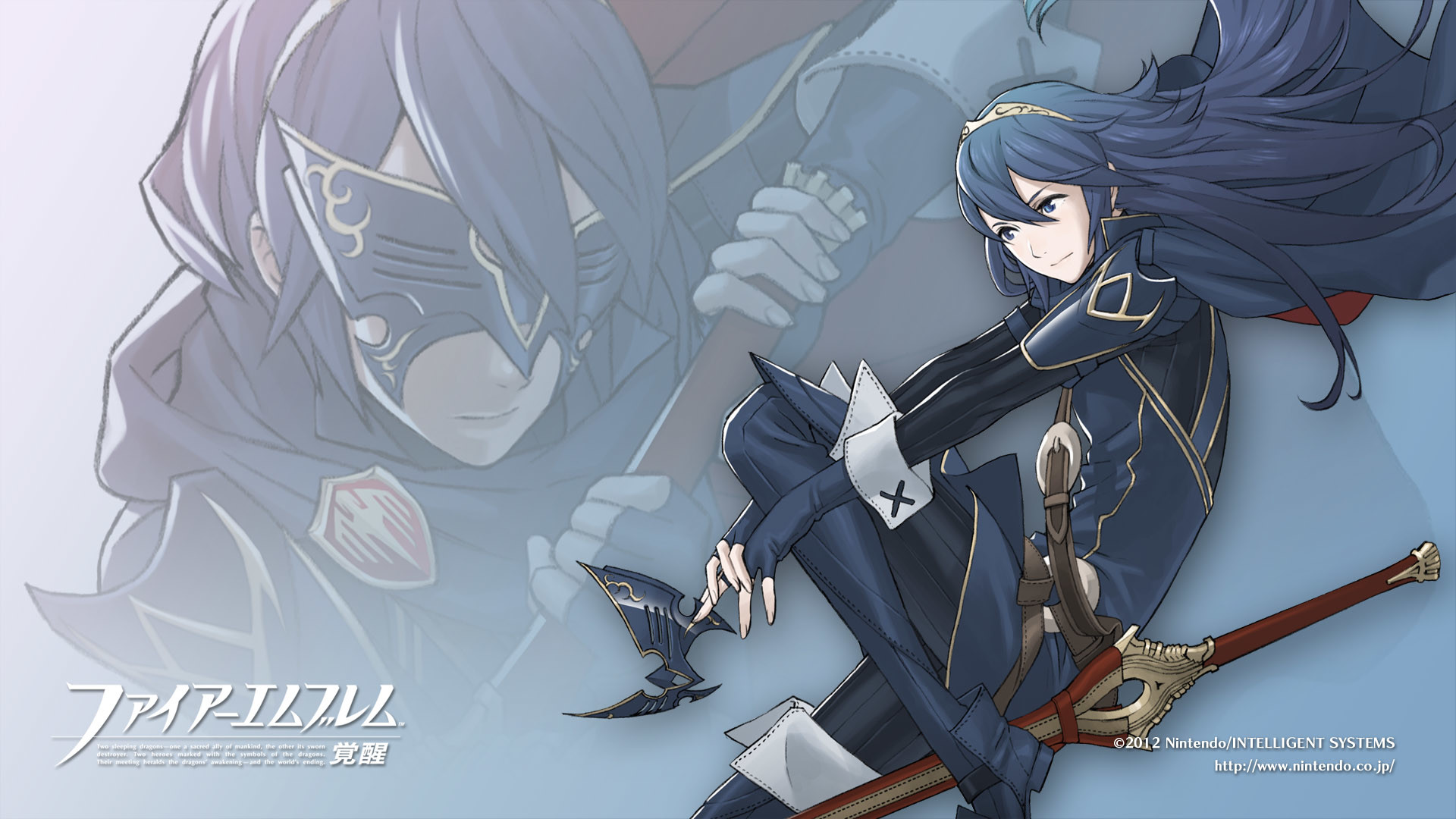 … Lucina wallpaper for a long time after recruiting her in the game. It's  not very original, but it was nice and simple, and I like Lucina.
