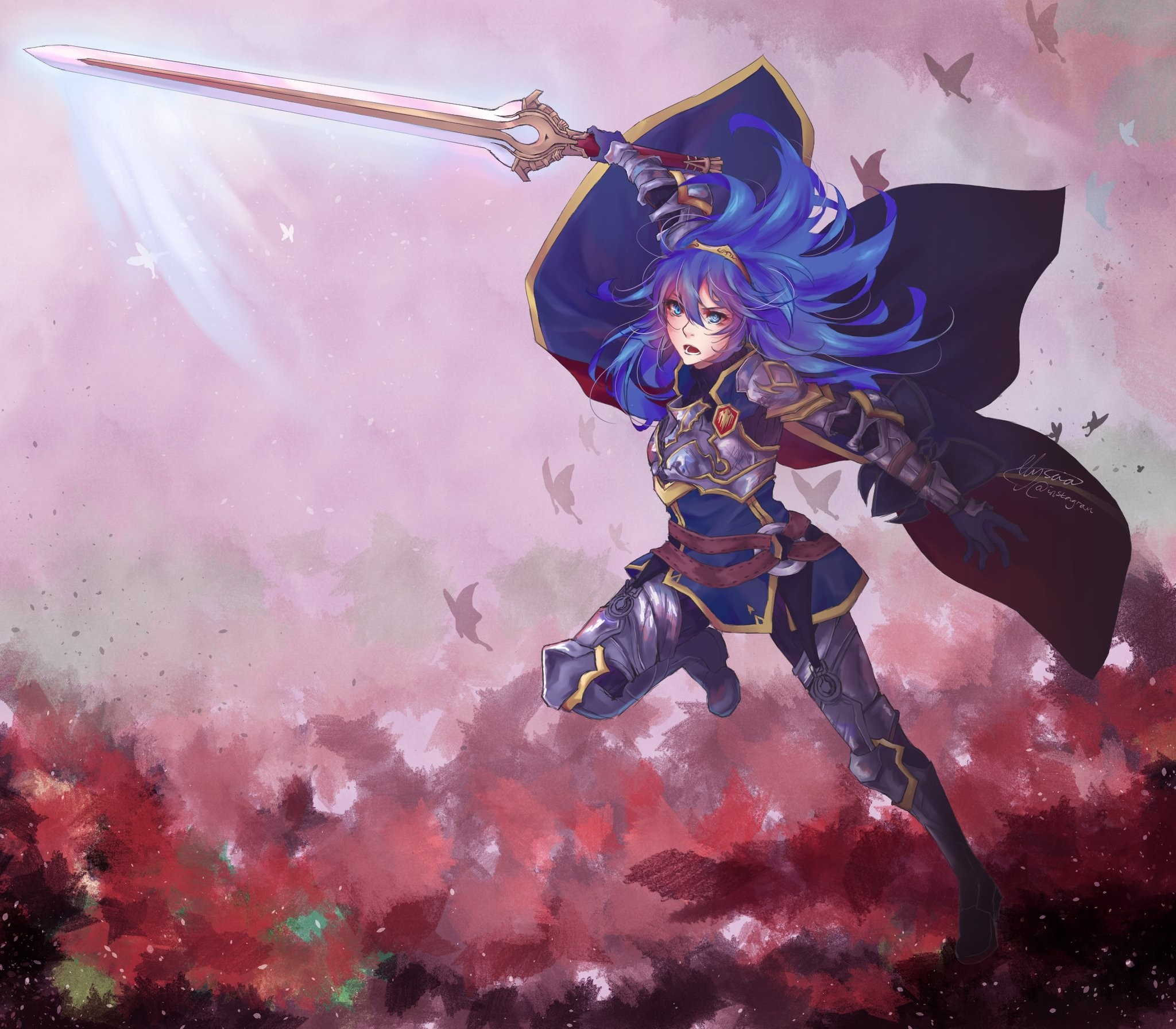 Fire emblem · Lucina as Great Lord commissioned artwork