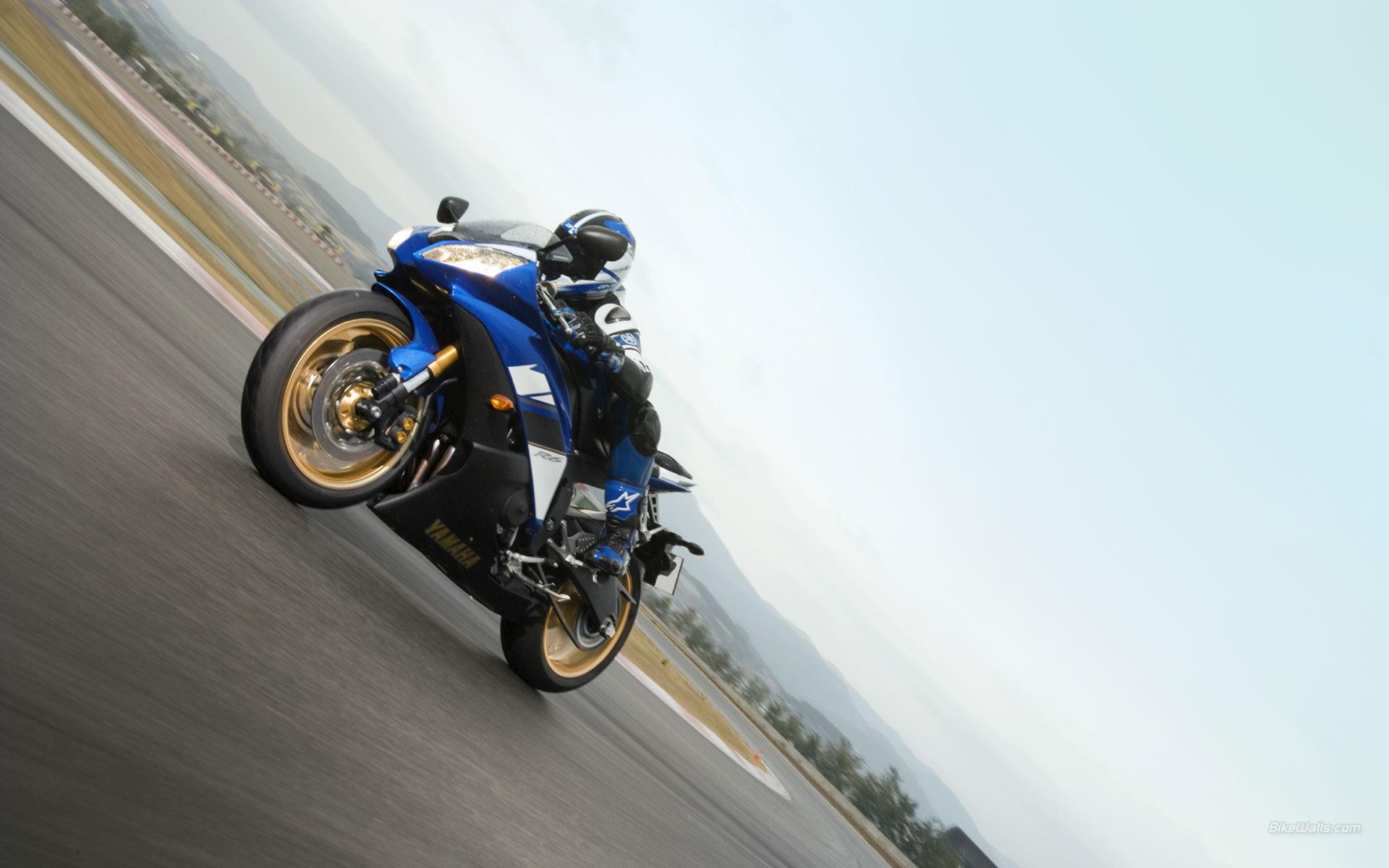 Moto Ninja Yamaha azul – fondox.net