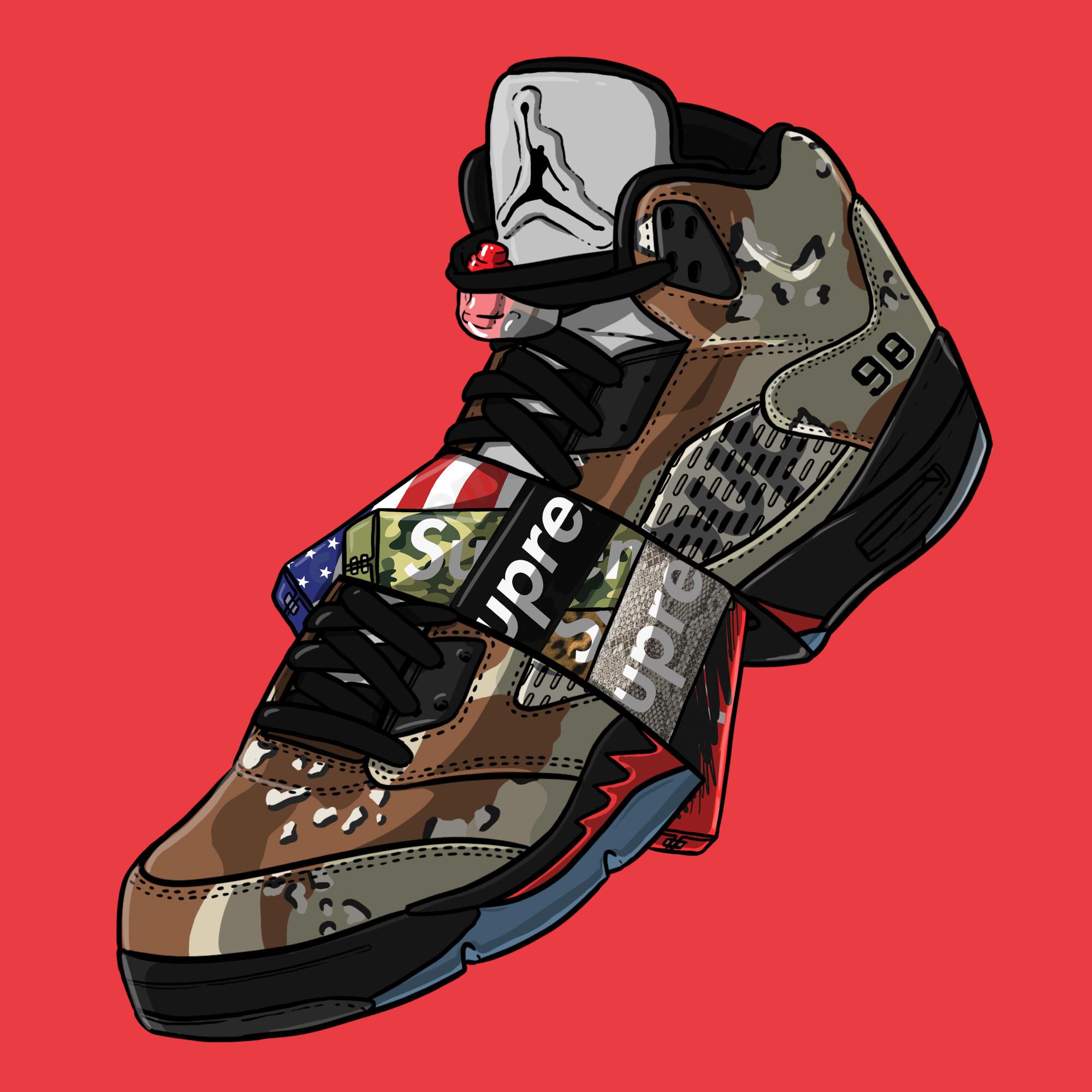 "Sneaker Art – Supreme V "" …"