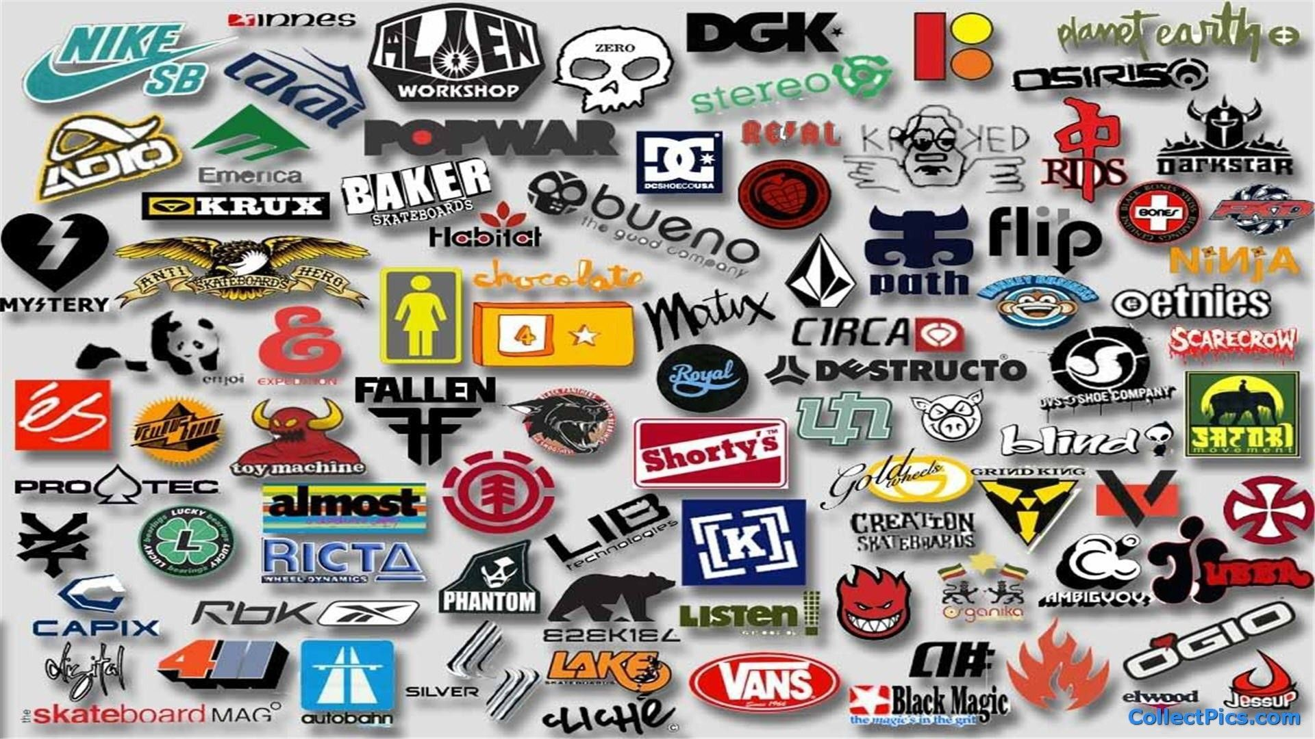 Skateboard Logos Wallpaper HD #4993