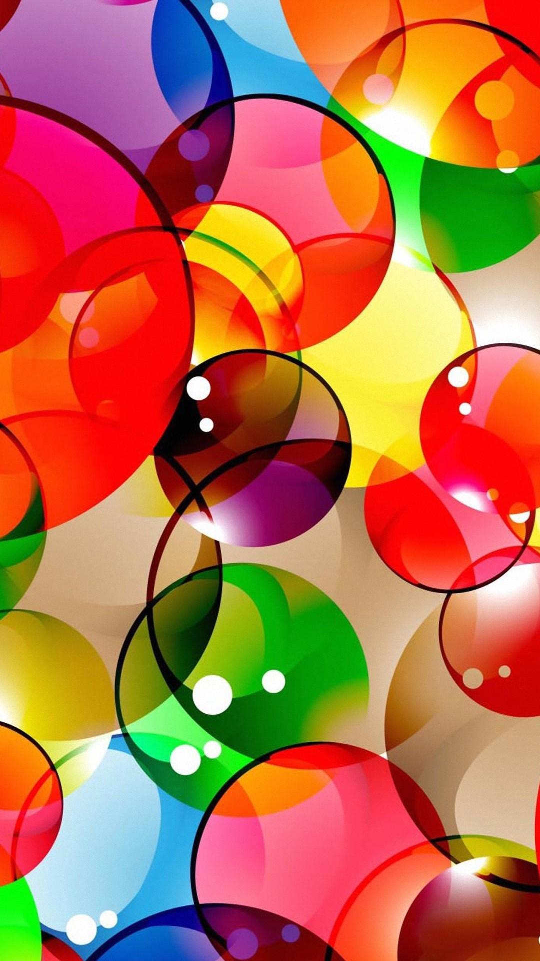 A colorful circle pattern
