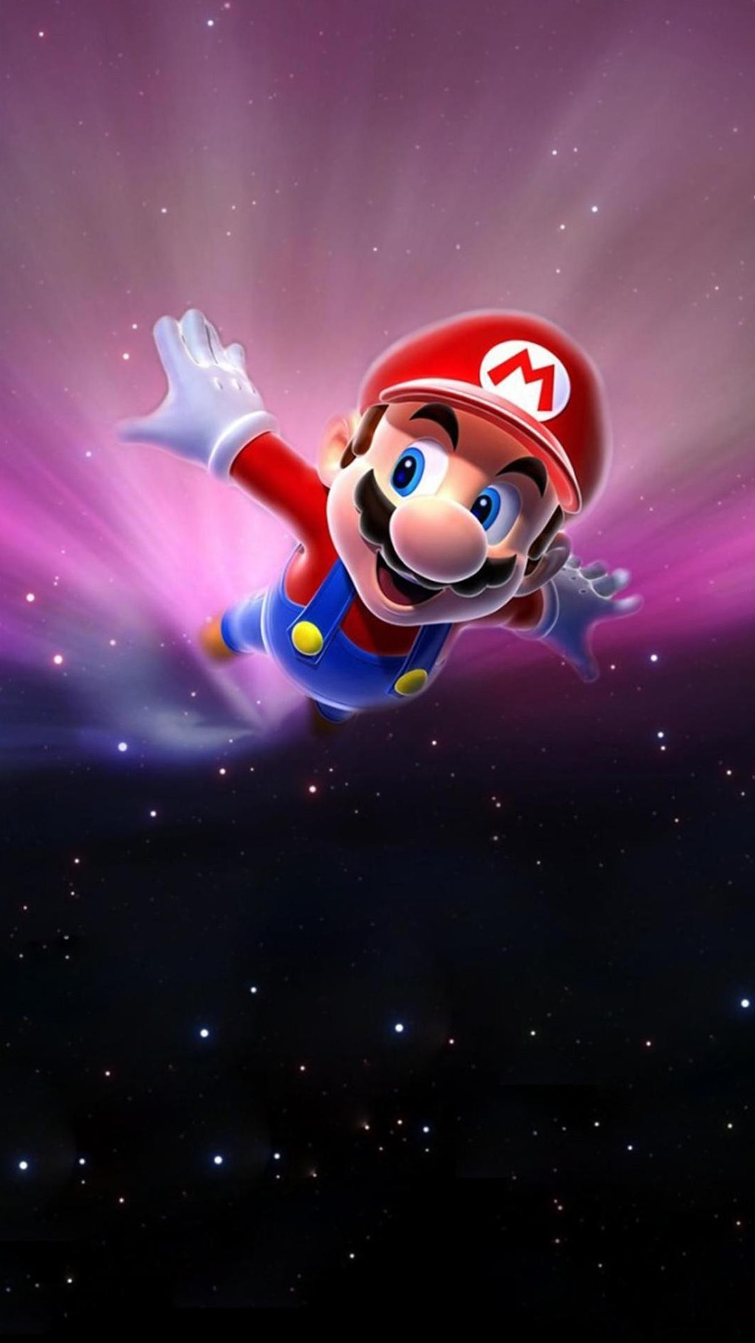 Super Mario Flying Poster Background For the kids :)