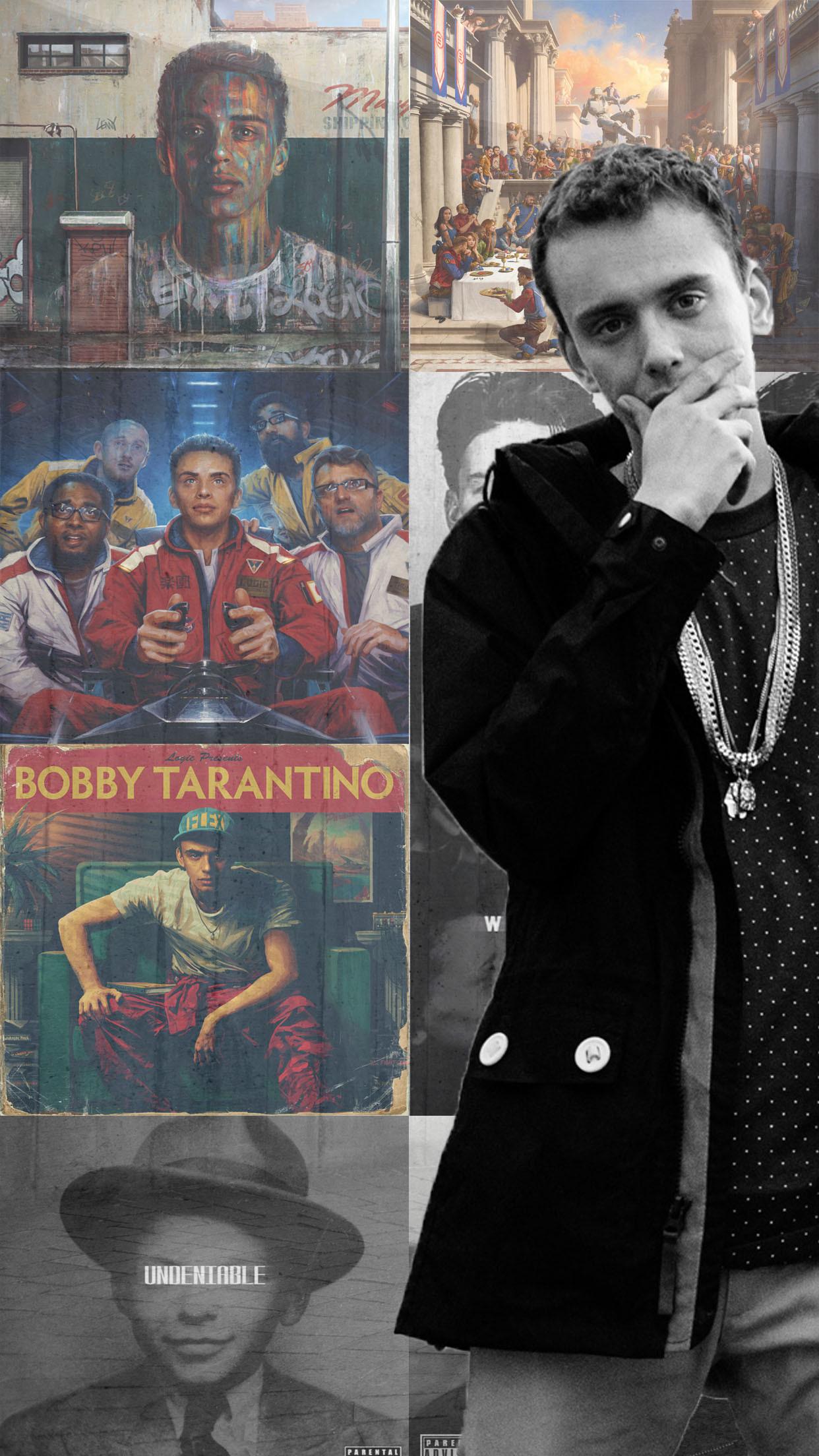 Logic Album Collage Phone Wallpaper