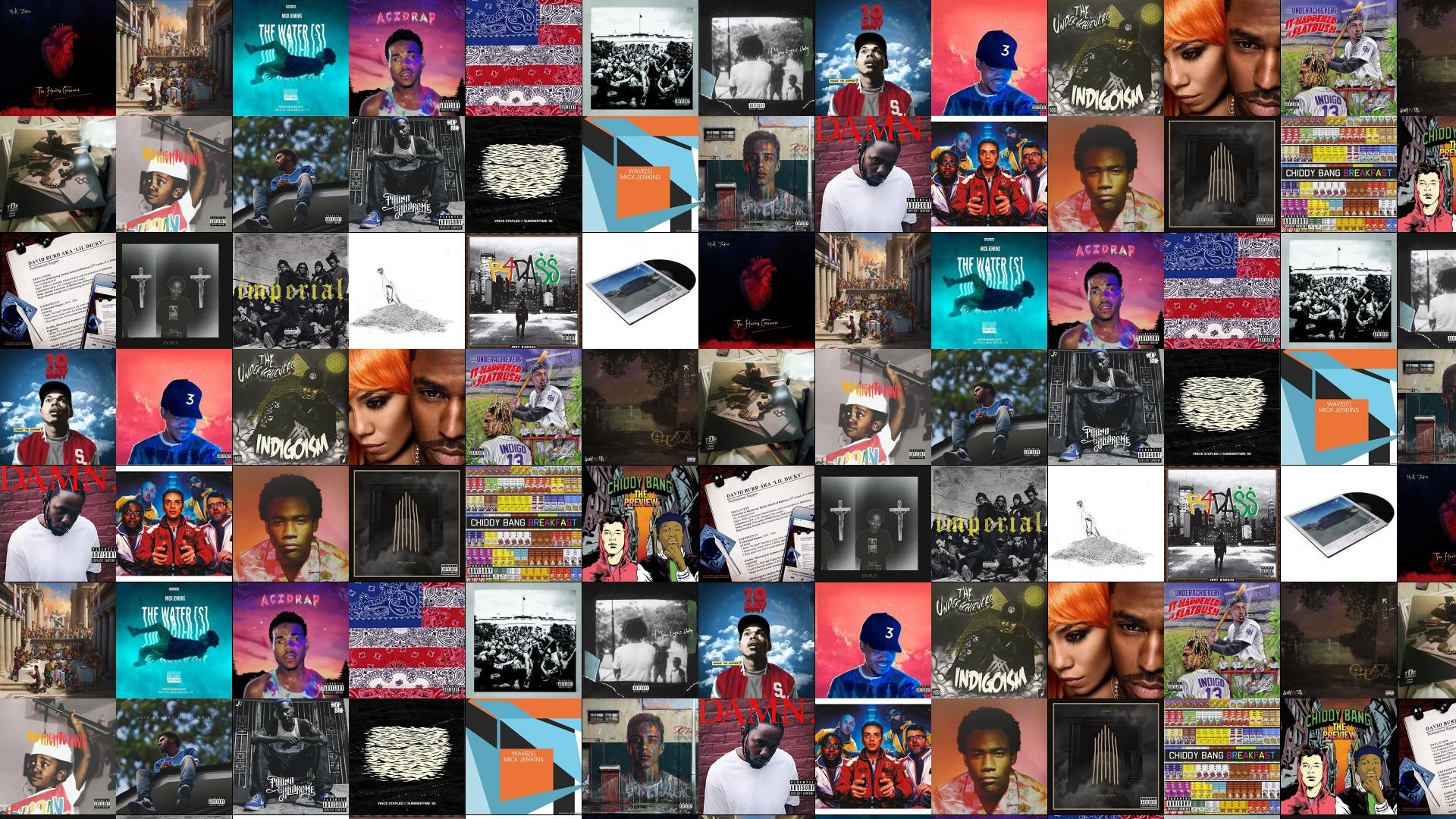 Download this free wallpaper with images of Mick Jenkins – , Logic – , Mick  Jenkins – Water, Chance The Rapper – Acid Rap, Joey Badass – Badass, …