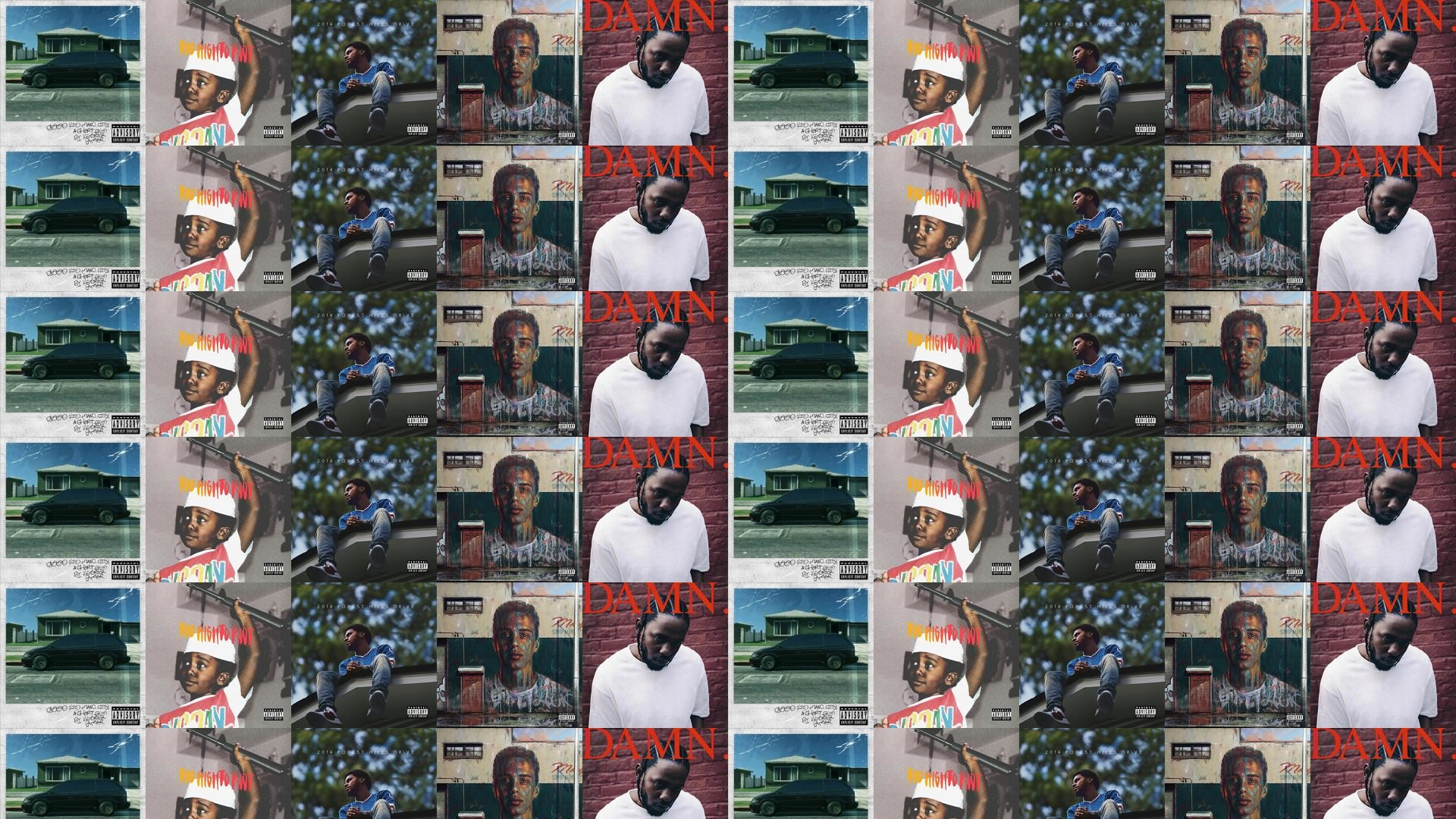 Download this free wallpaper with images of Kendrick Lamar – Good Kid  M.A.A.D. City, Bas – Too High To Riot, J. Cole – 2014, Logic – Under  Pressure, …