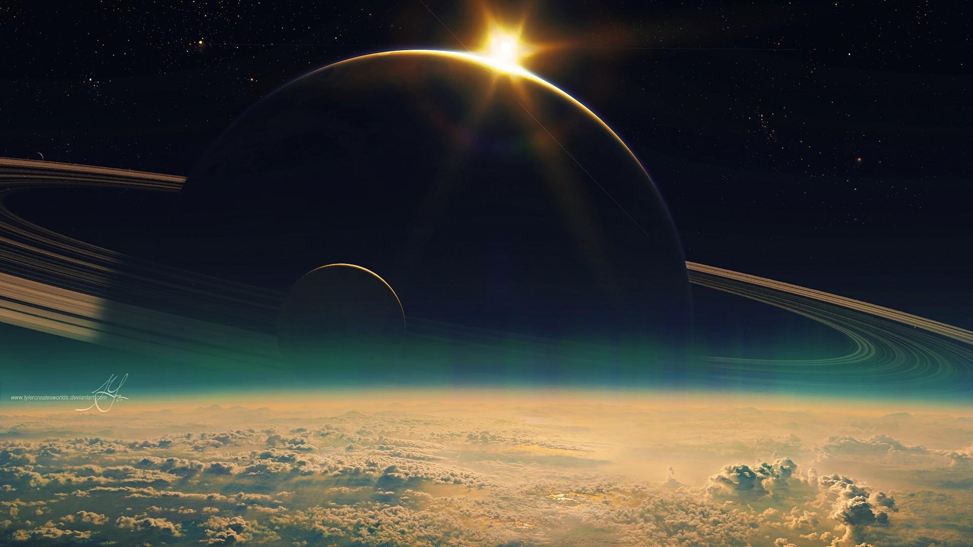 Space Wallpaper HD 1080P Background © genovic.com