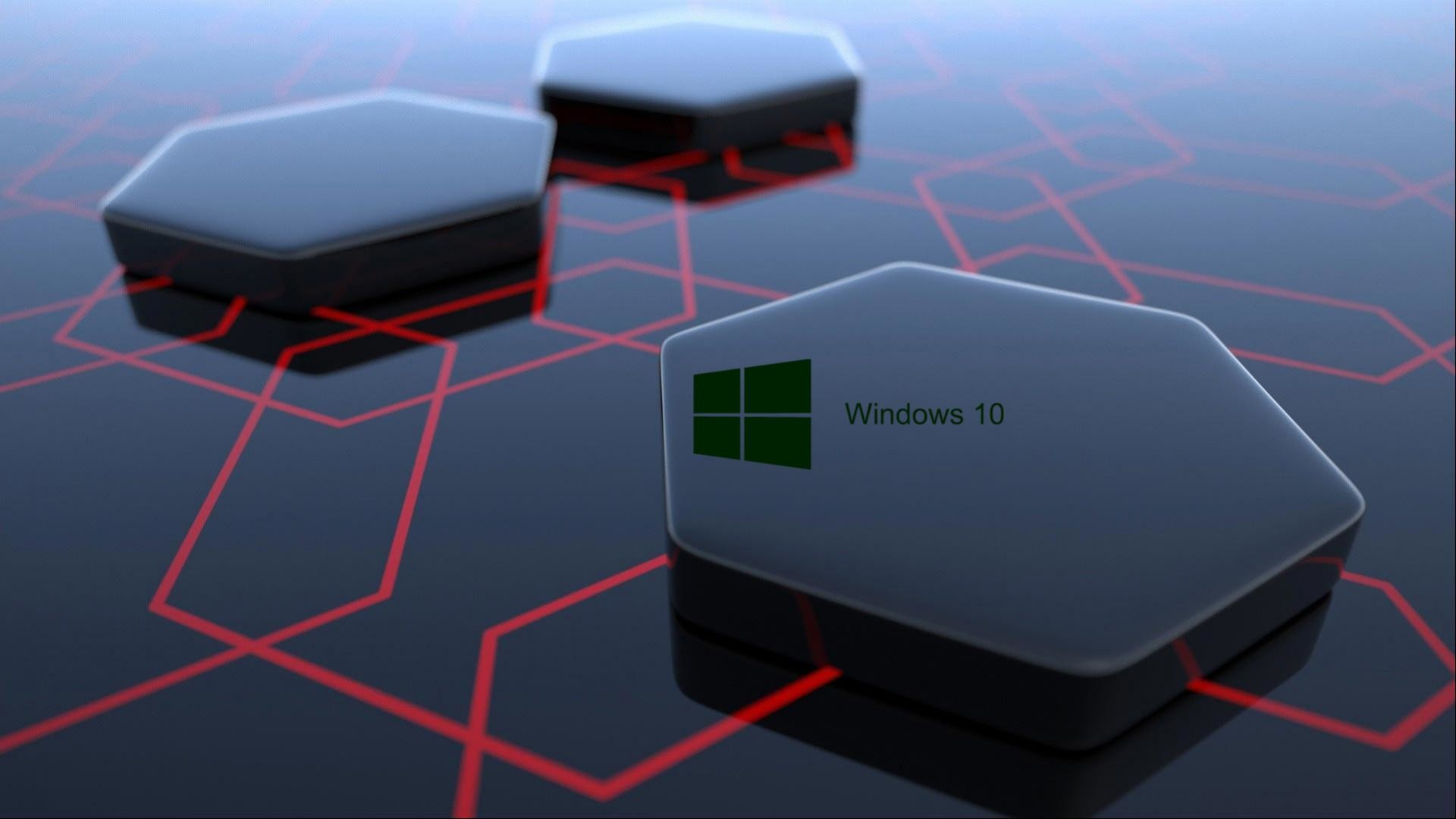 Windows 10 Desktop Image with 3d Art Black Hexagonal Wallpapers | HD .