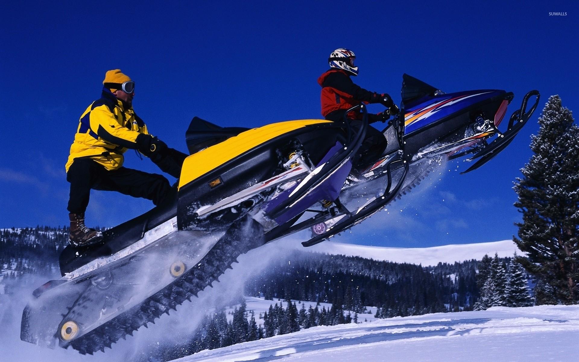 Snowmobiles wallpaper