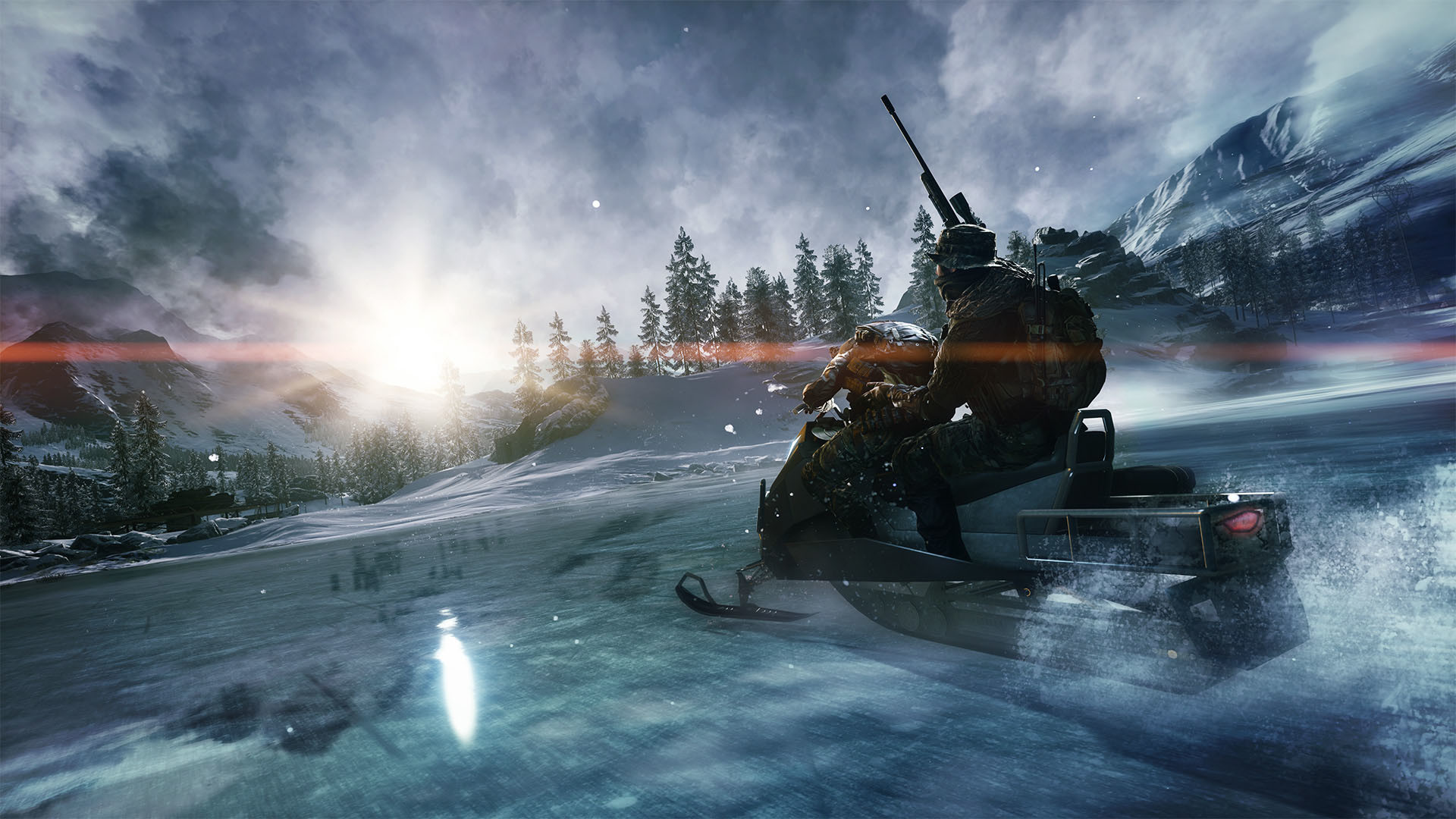 Battlefield 4 Final Stand – Snowmobile on Hammerhead map wallpaper