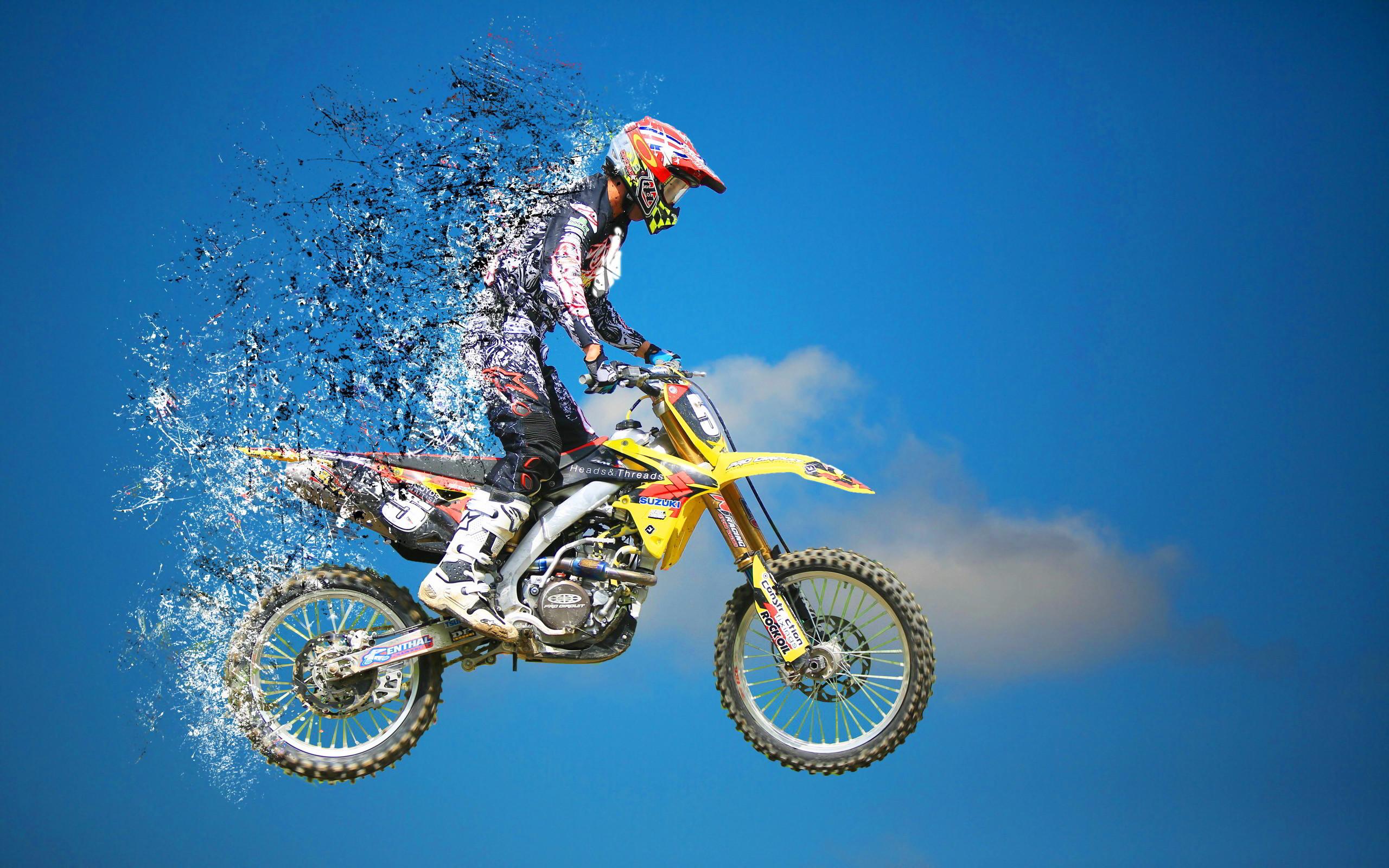 Motocross jump splatter