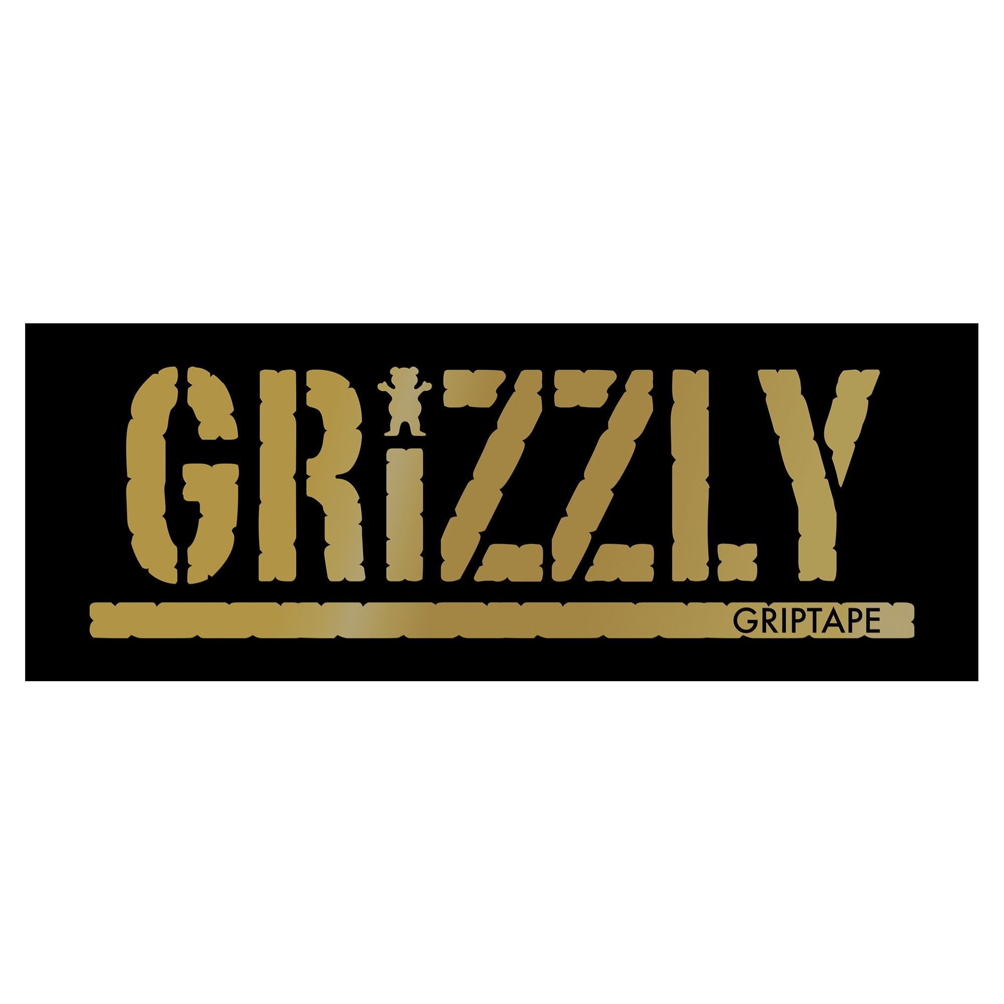 Grizzly White Stamp Print Griptape X Sheet