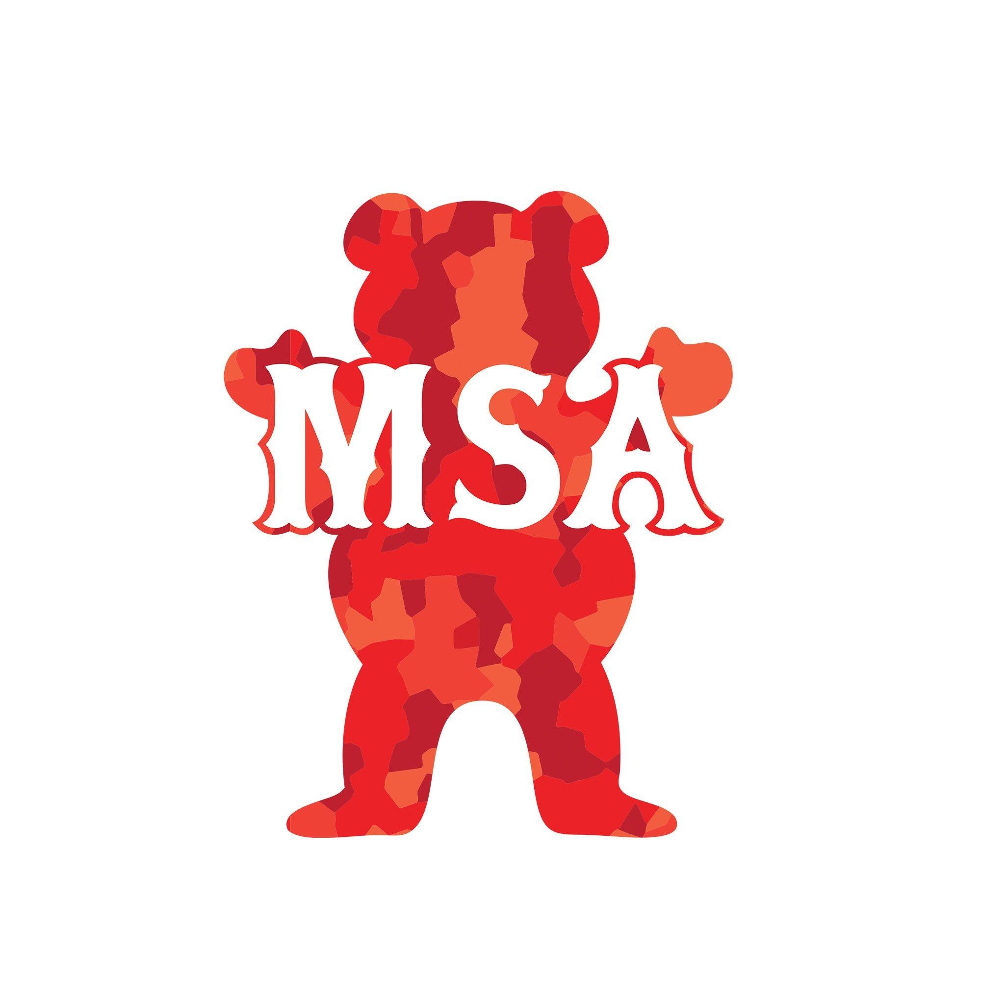 MSA BEAR STICKER
