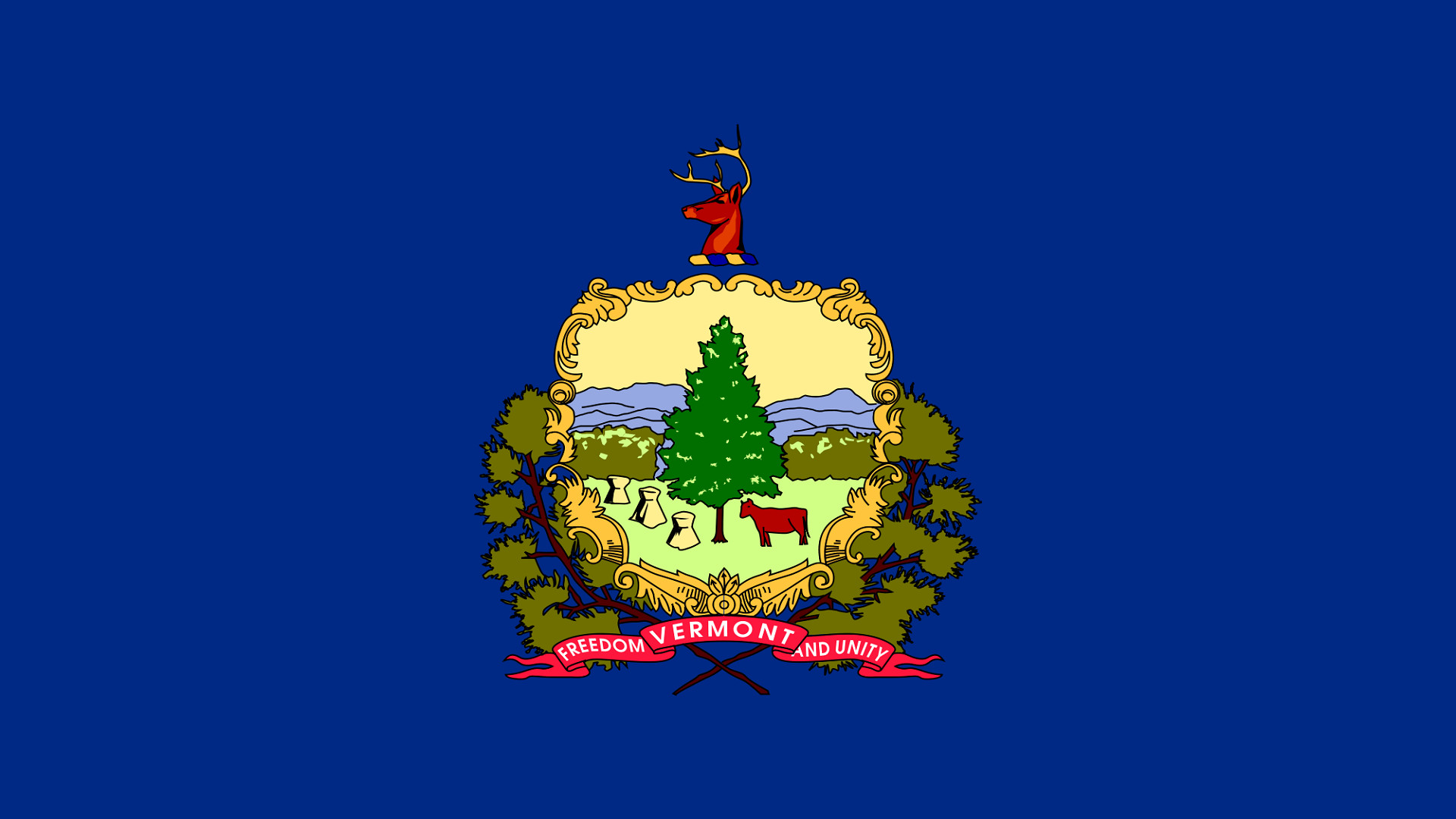 Vermont Flag Background [1920×1080] Need #iPhone #6S #Plus #Wallpaper/