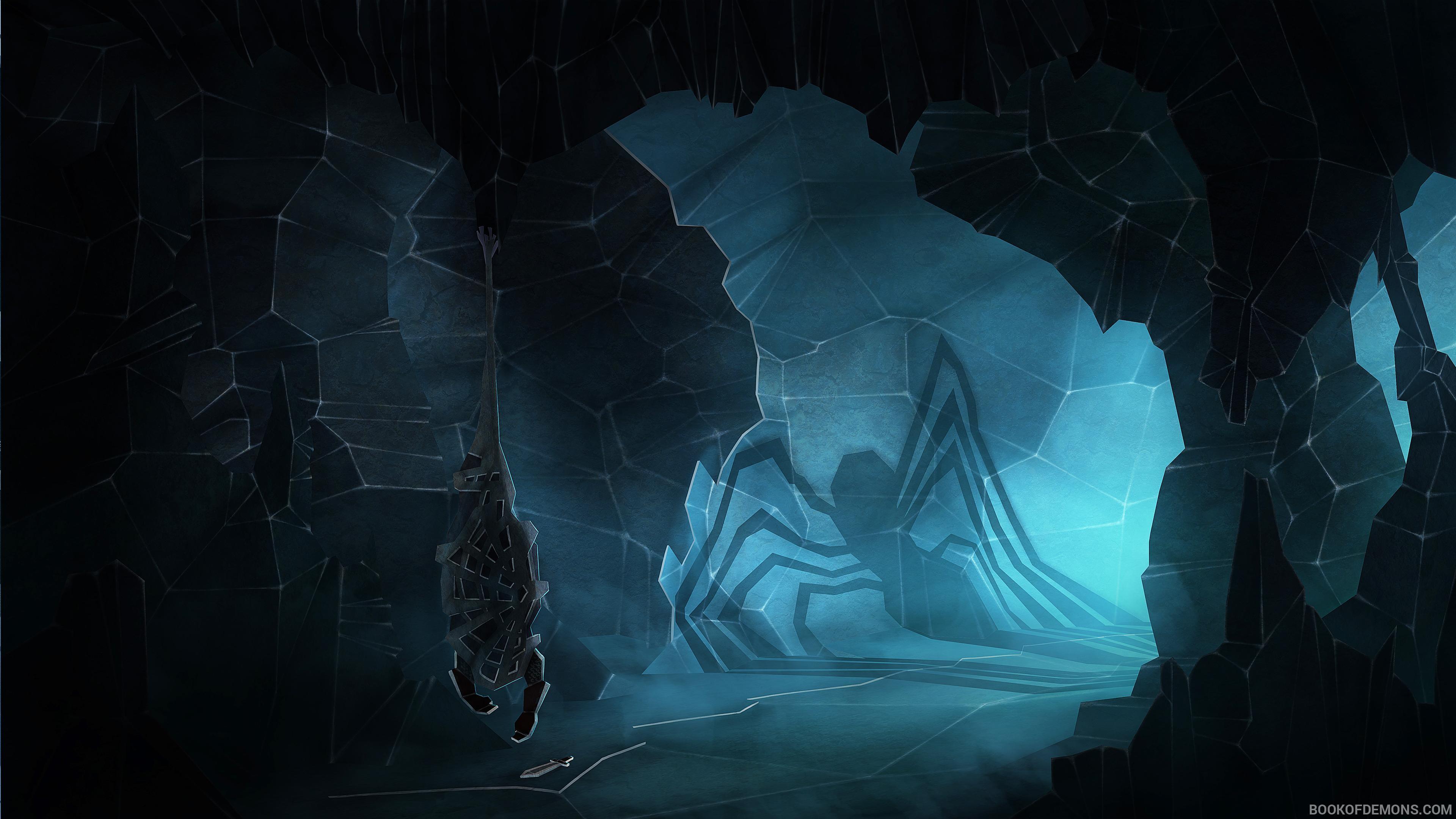 Spider Web Art 4K Wallpaper