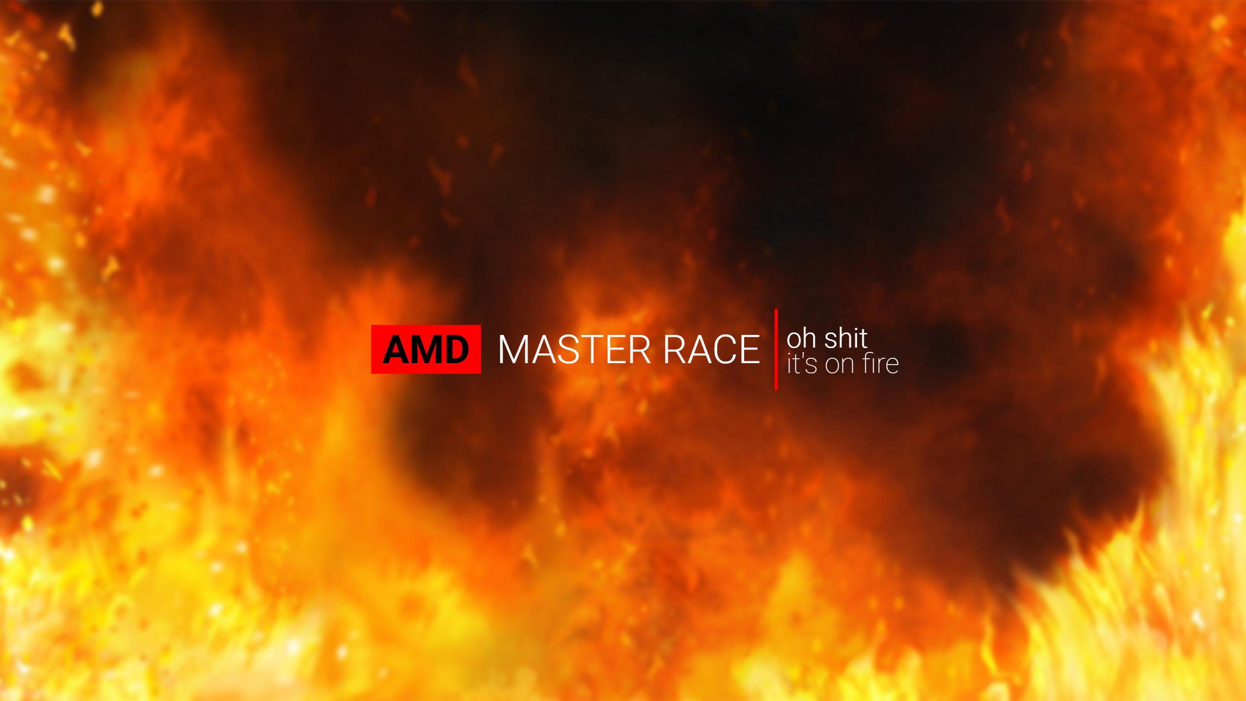 Satire/JokeMade a proper wallpaper for us AMD users.